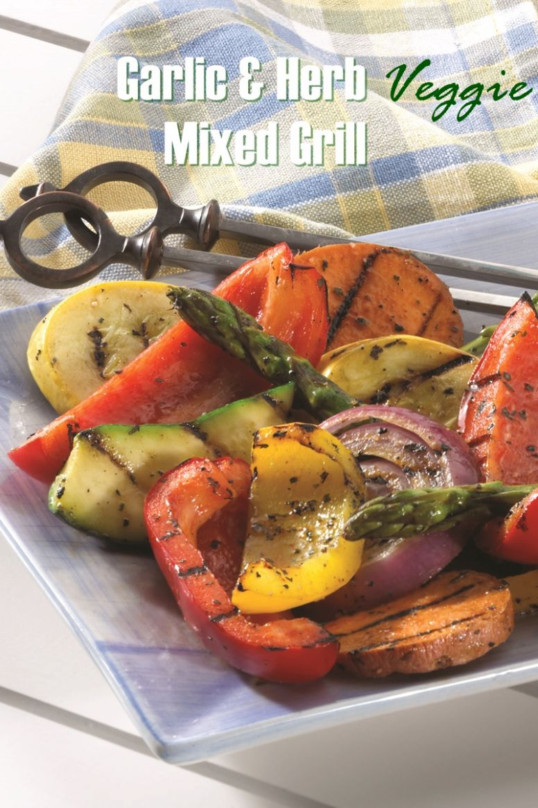 Garlic and Herb Mixed Vegetable Grill - Vegetarian Recipes On The Grill
