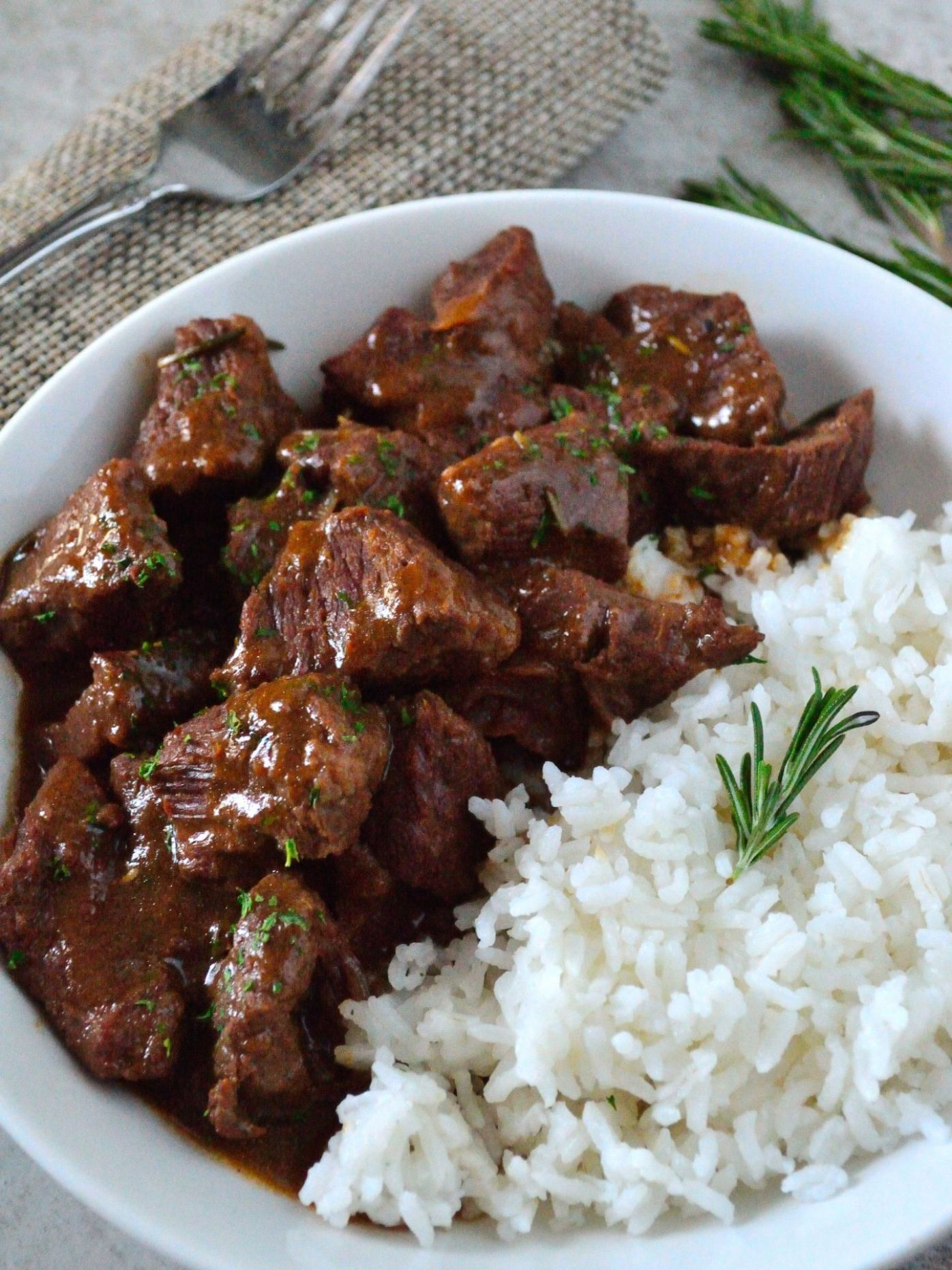 Garlic and Rosemary Beef Tips - Recipes Beef Tips And Rice