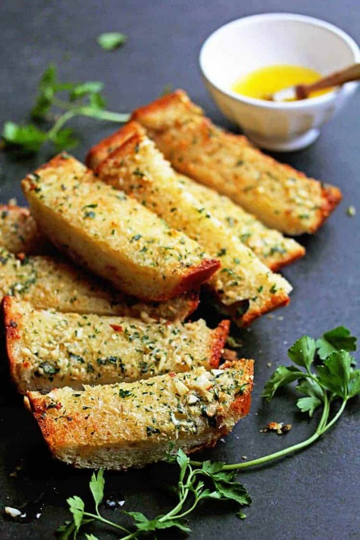 Garlic Bread Recipe (How to Make Garlic Bread) - Simple Recipes Garlic Bread
