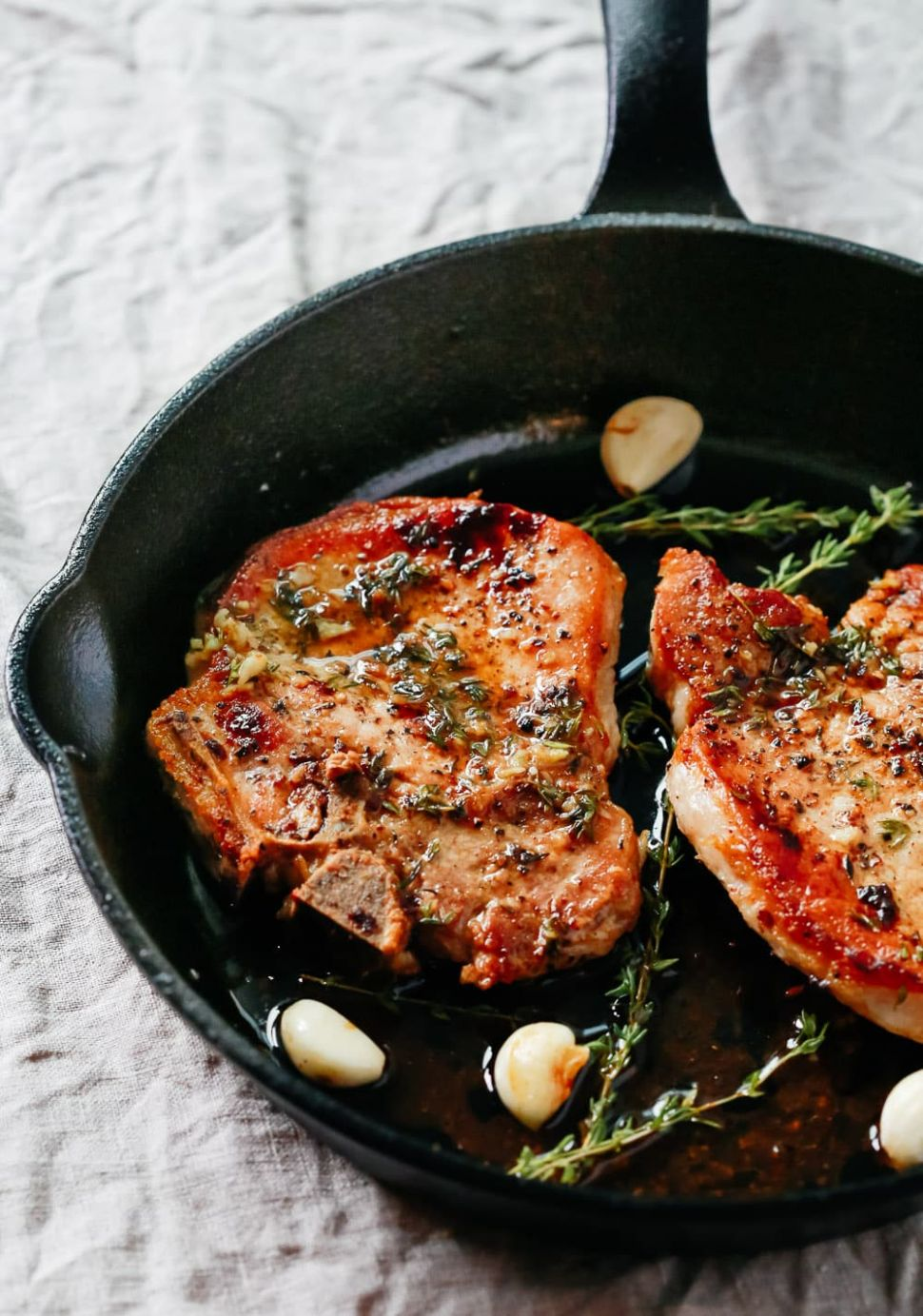 Garlic Butter Baked Pork Chops - Recipes Pork Loin Chops