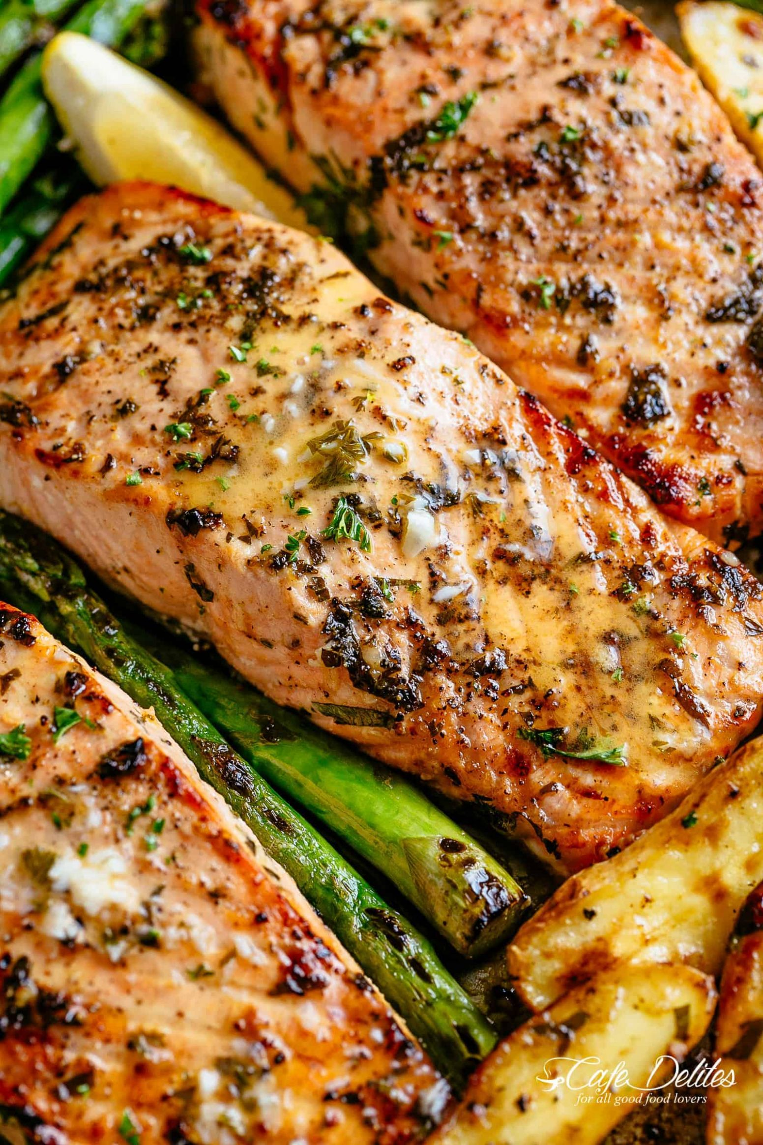 Garlic Butter Baked Salmon - Cafe Delites - Recipes Fish Salmon