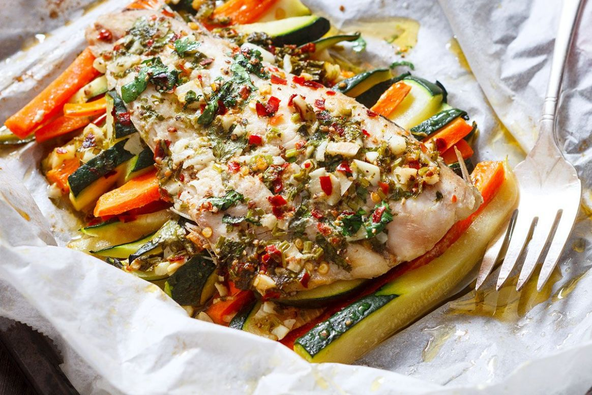 Garlic Butter Fish in Parchment Recipe — Eatwell12