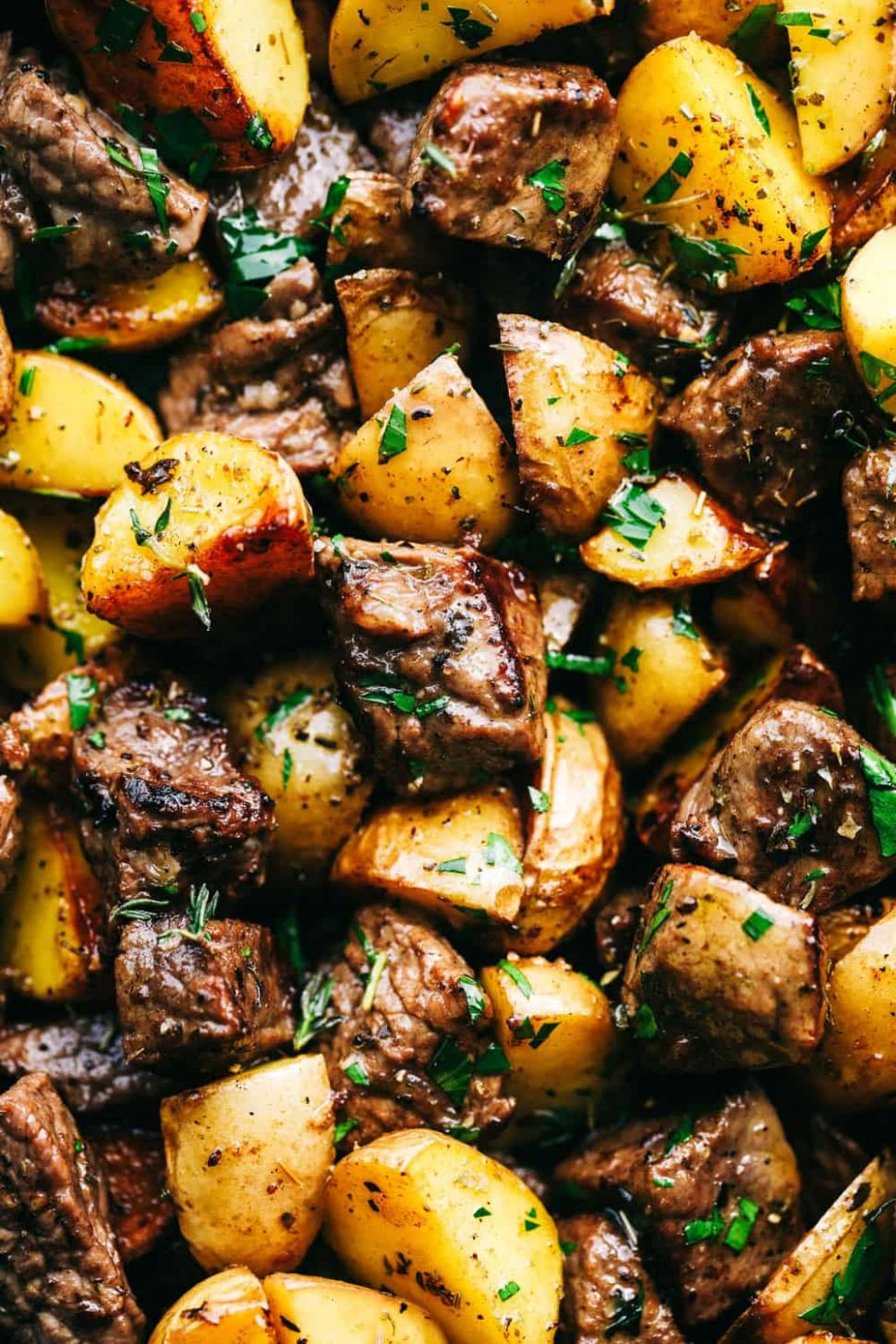 Garlic Butter Herb Steak Bites with Potatoes | The Recipe Critic - Recipes With Beef Cubes And Potatoes
