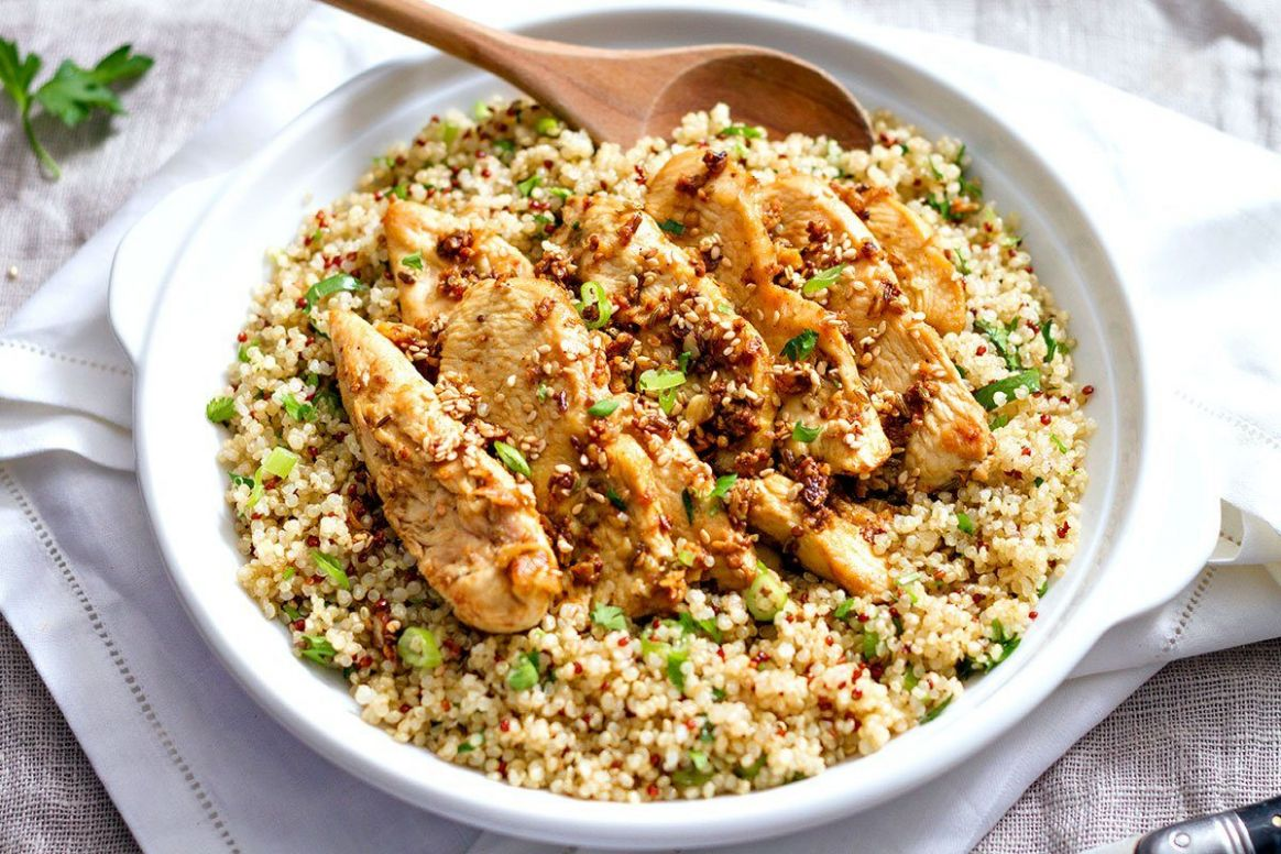 Garlic Lime Chicken Tenders and Quinoa - Recipe Chicken Quinoa Salad