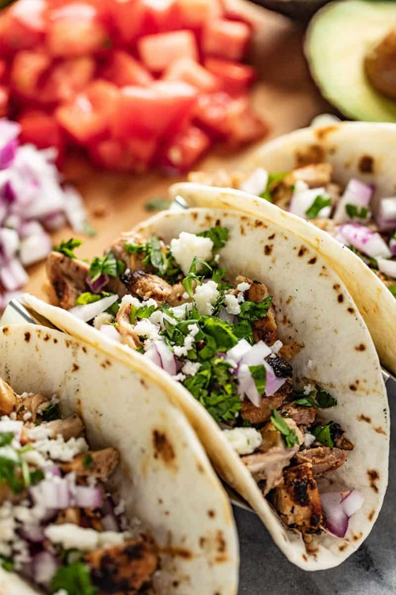 Garlic Lime Grilled Chicken Tacos - Recipes Chicken Tacos