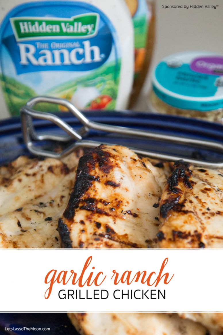 Garlic Ranch Grilled Chicken - Chicken Breast Ranch Recipes