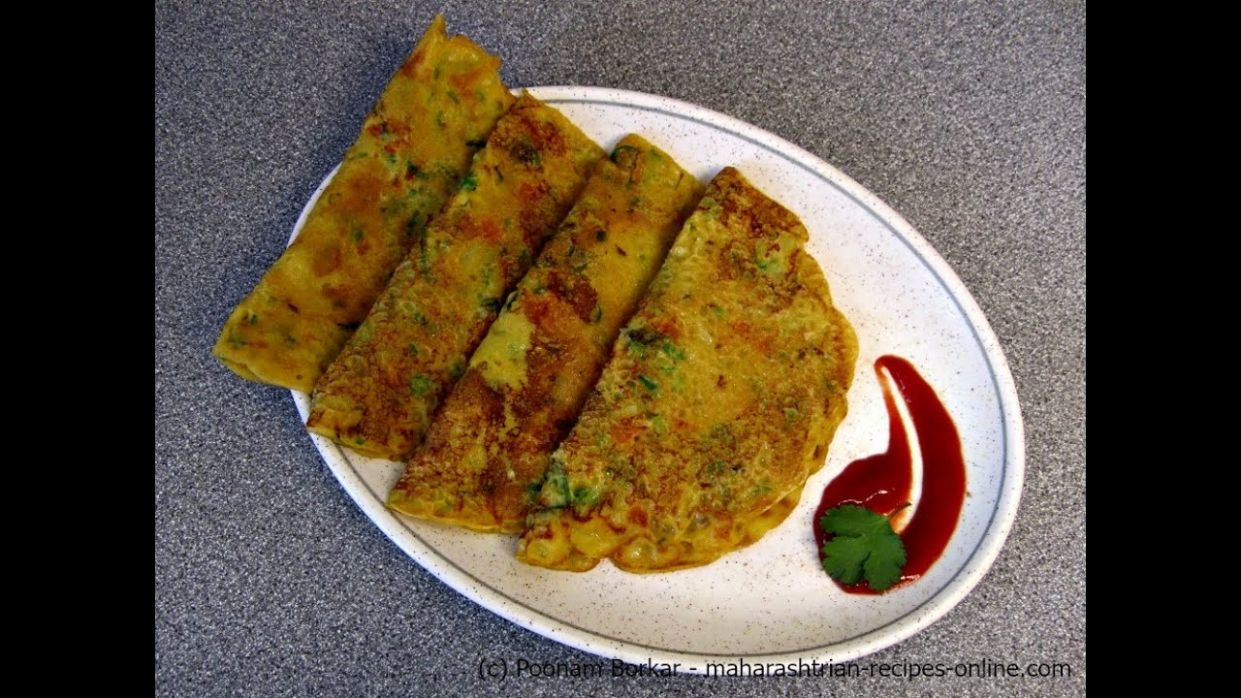Gavhache dhirde (Spicy wheat flour pancake) - Quick and Easy Breakfast  recipe