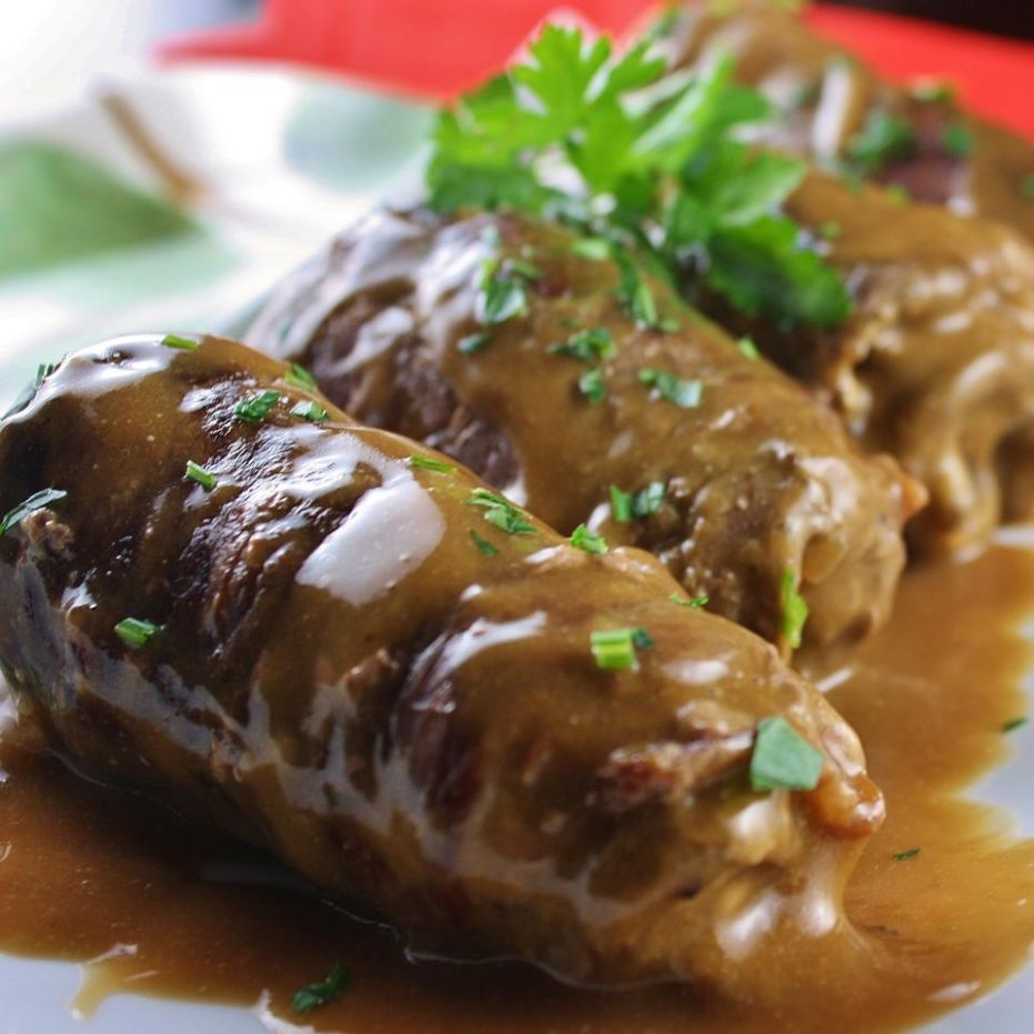 German Beef Rouladen - Recipes Beef Rouladen German Style