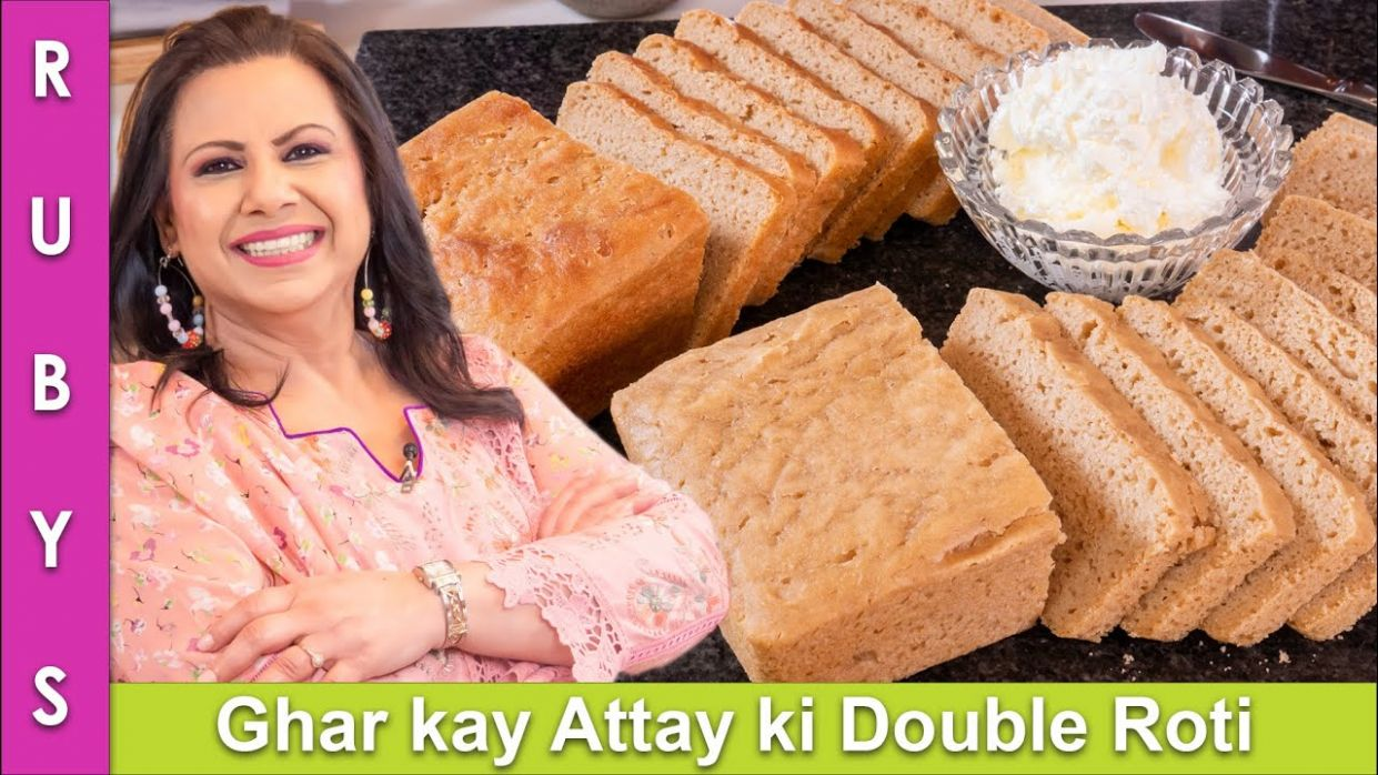 Ghar kay Attay ki Double Roti No Oven Wheat Bread Recipe in Urdu Hindi - RKK
