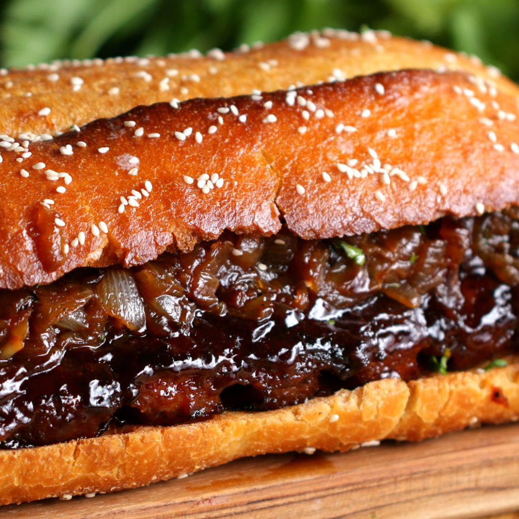 Giant BBQ Rib Sandwich (To Feed A Crowd) Recipe by Tasty