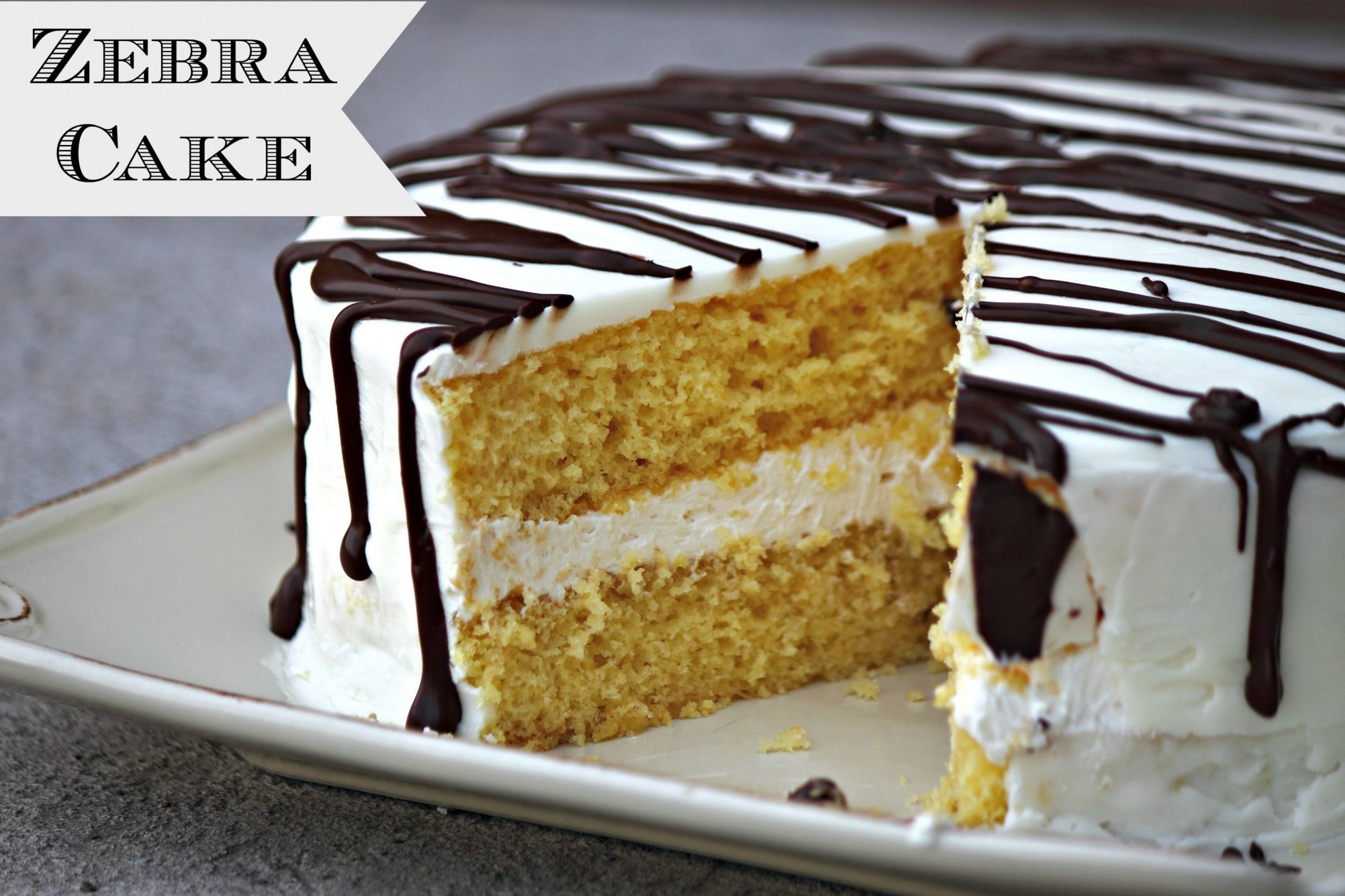 Giant Zebra Cake - Cake Recipes Zebra