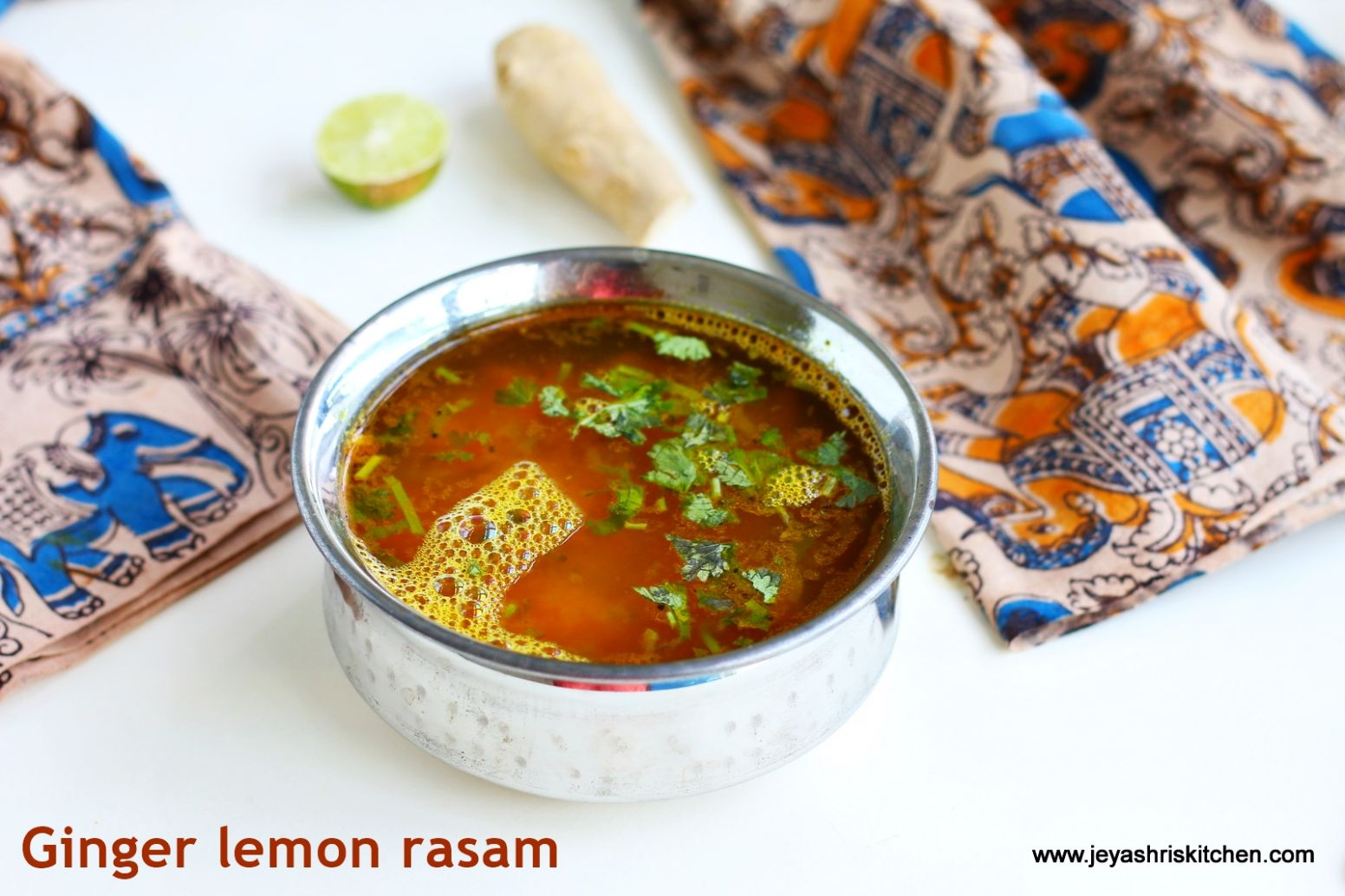 Ginger Lemon Rasam | South Indian Rasam recipes by Jeyashri's Kitchen