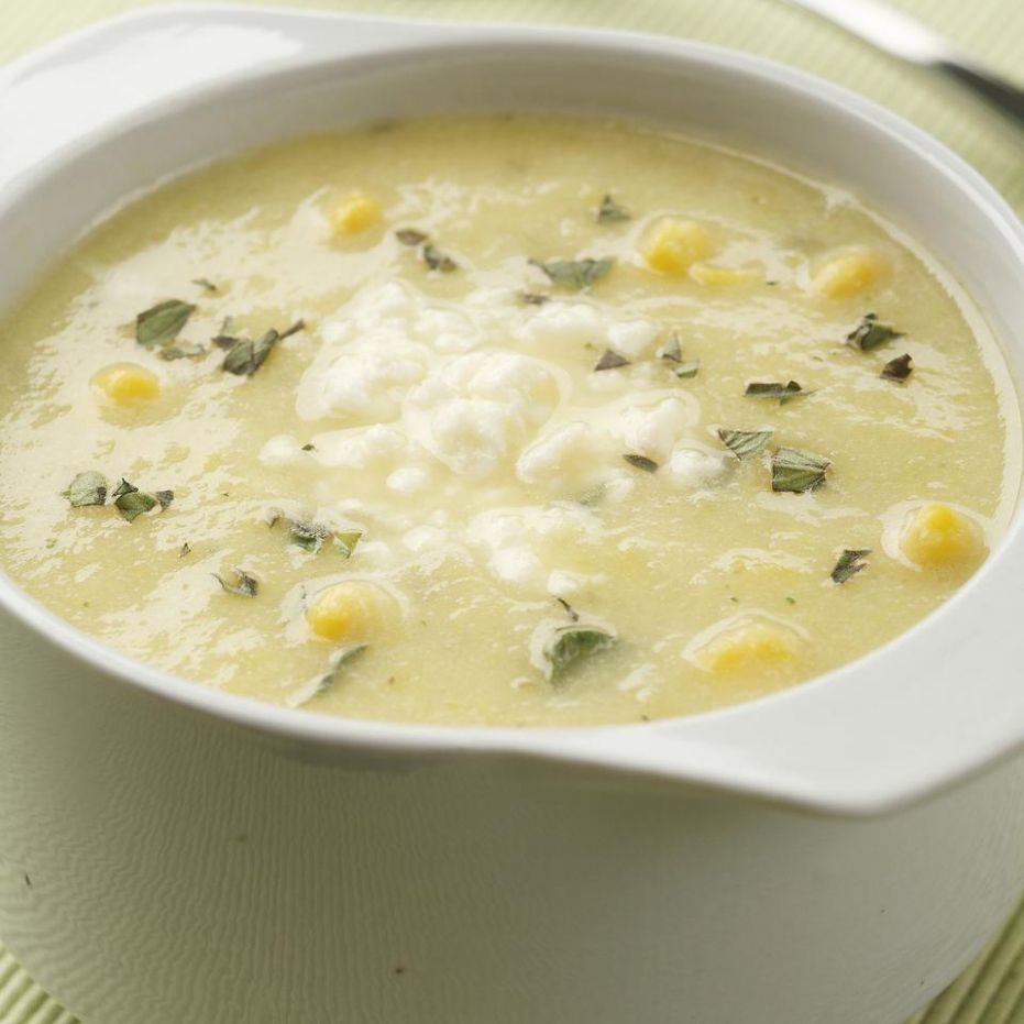Golden Summer Squash & Corn Soup - Recipes For Yellow Summer Squash Soup