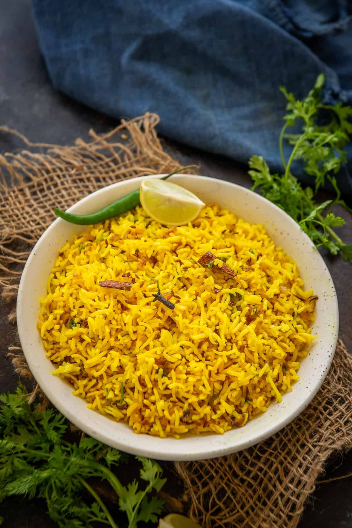 Golden Turmeric Rice Recipe (Step by Step) - Whiskaffair