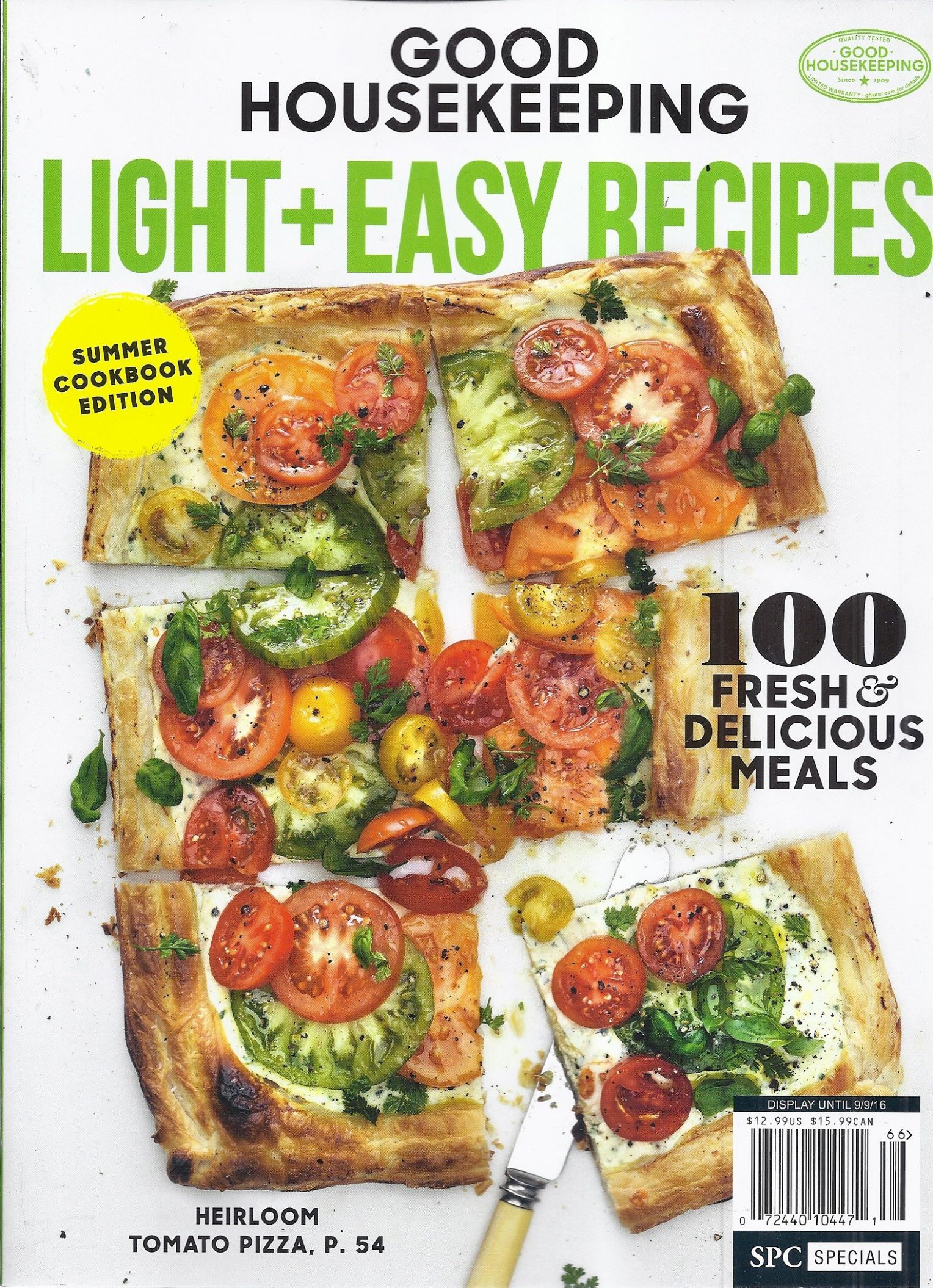 Good Housekeeping Light + Easy Recipes Magazine (Summer Cookbook ..