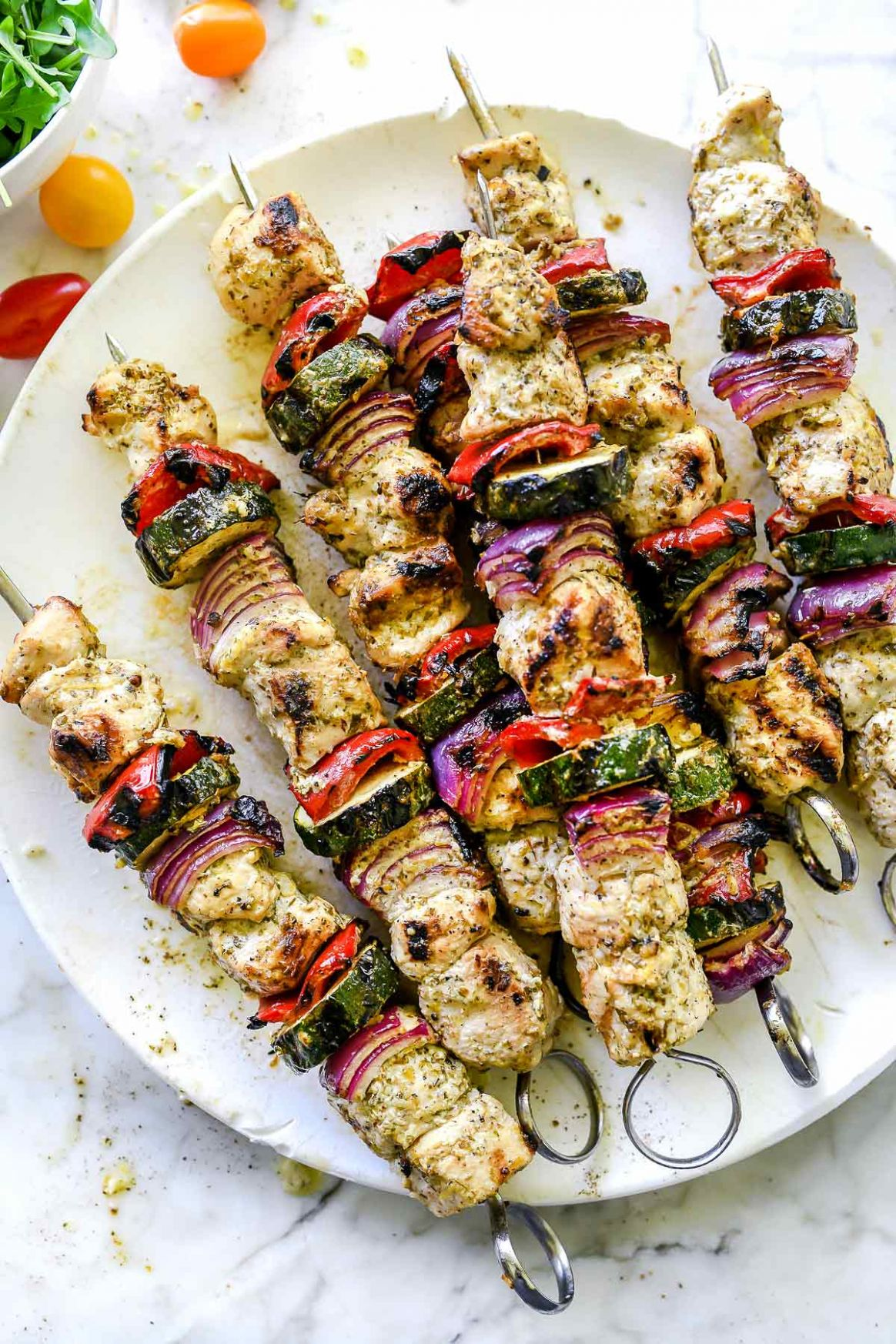 Greek Chicken Kebabs - Recipes Chicken Kebabs
