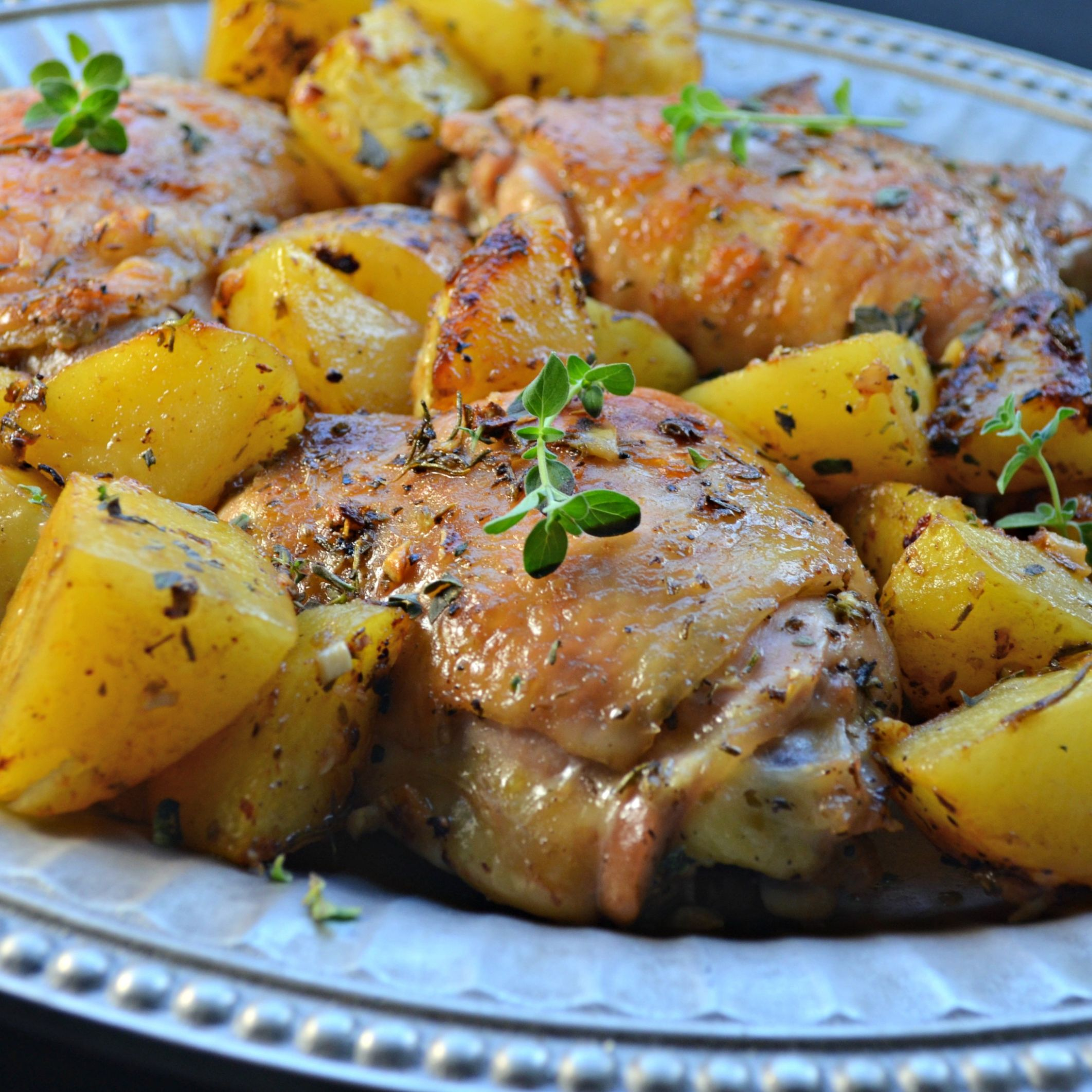 Greek Lemon Chicken and Potatoes - Recipes Chicken And Potatoes