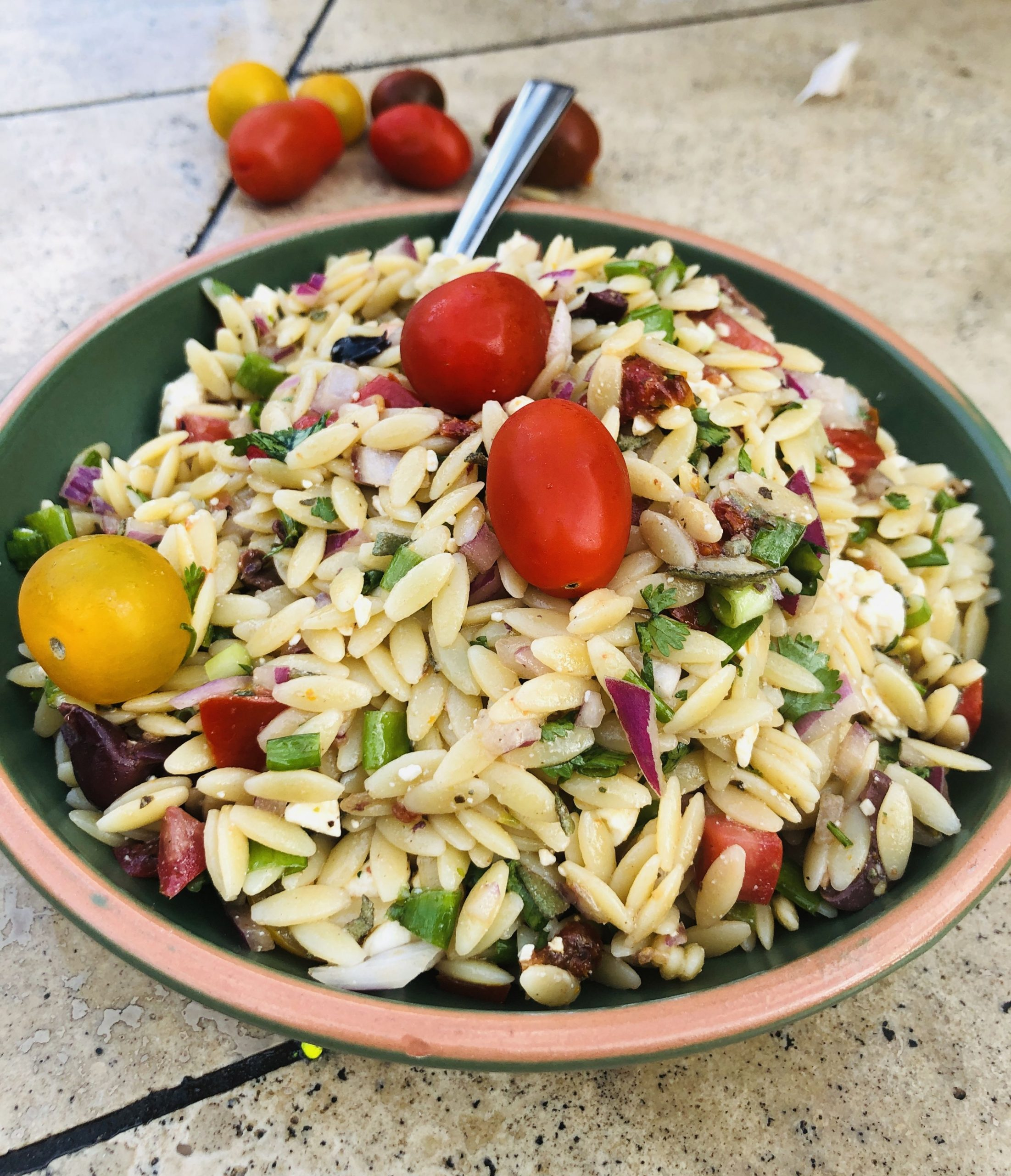 Greek Orzo Salad Recipe: - Recipes Orzo Salad
