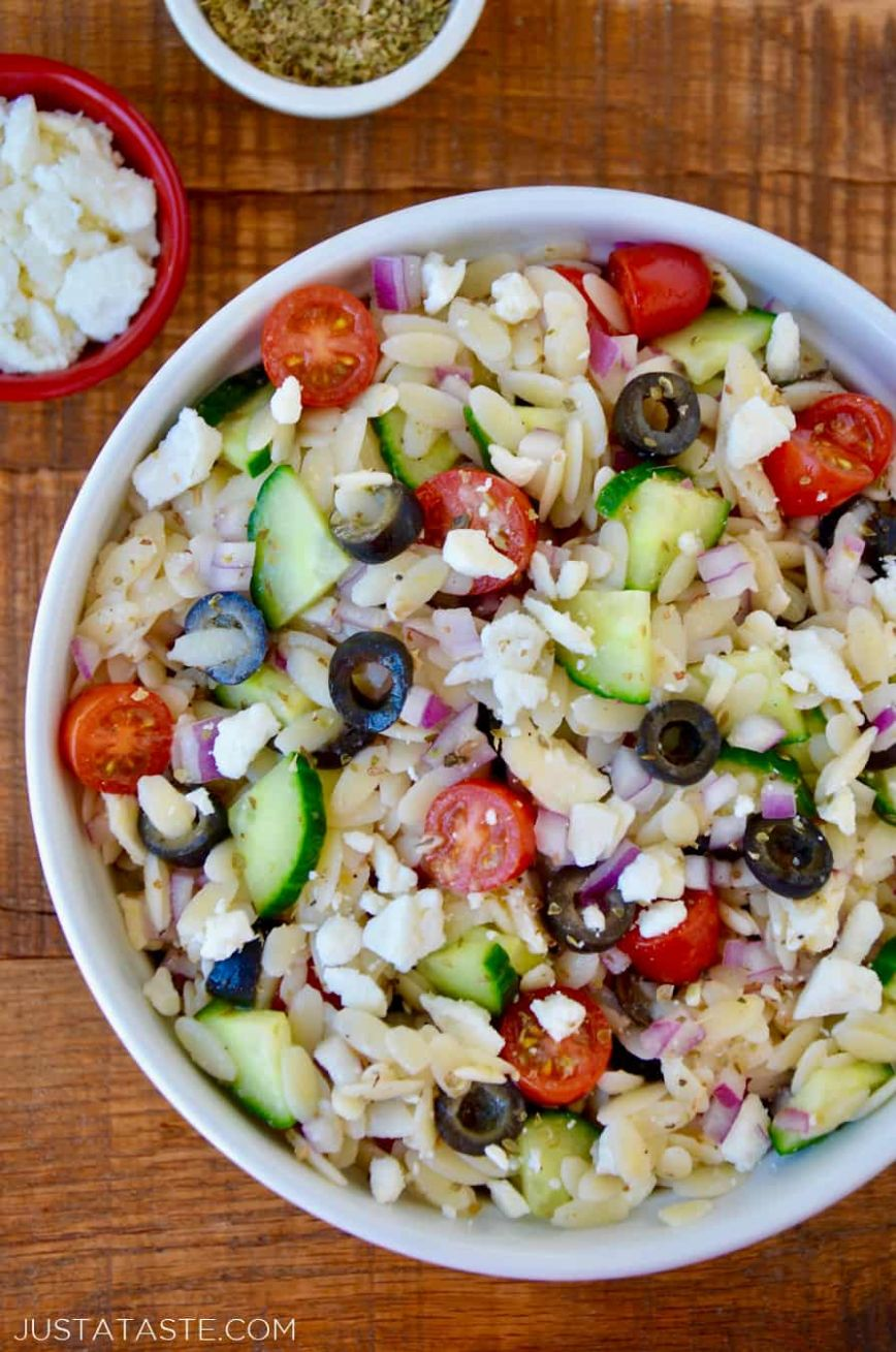 Greek Orzo Salad - Recipes Orzo Salad