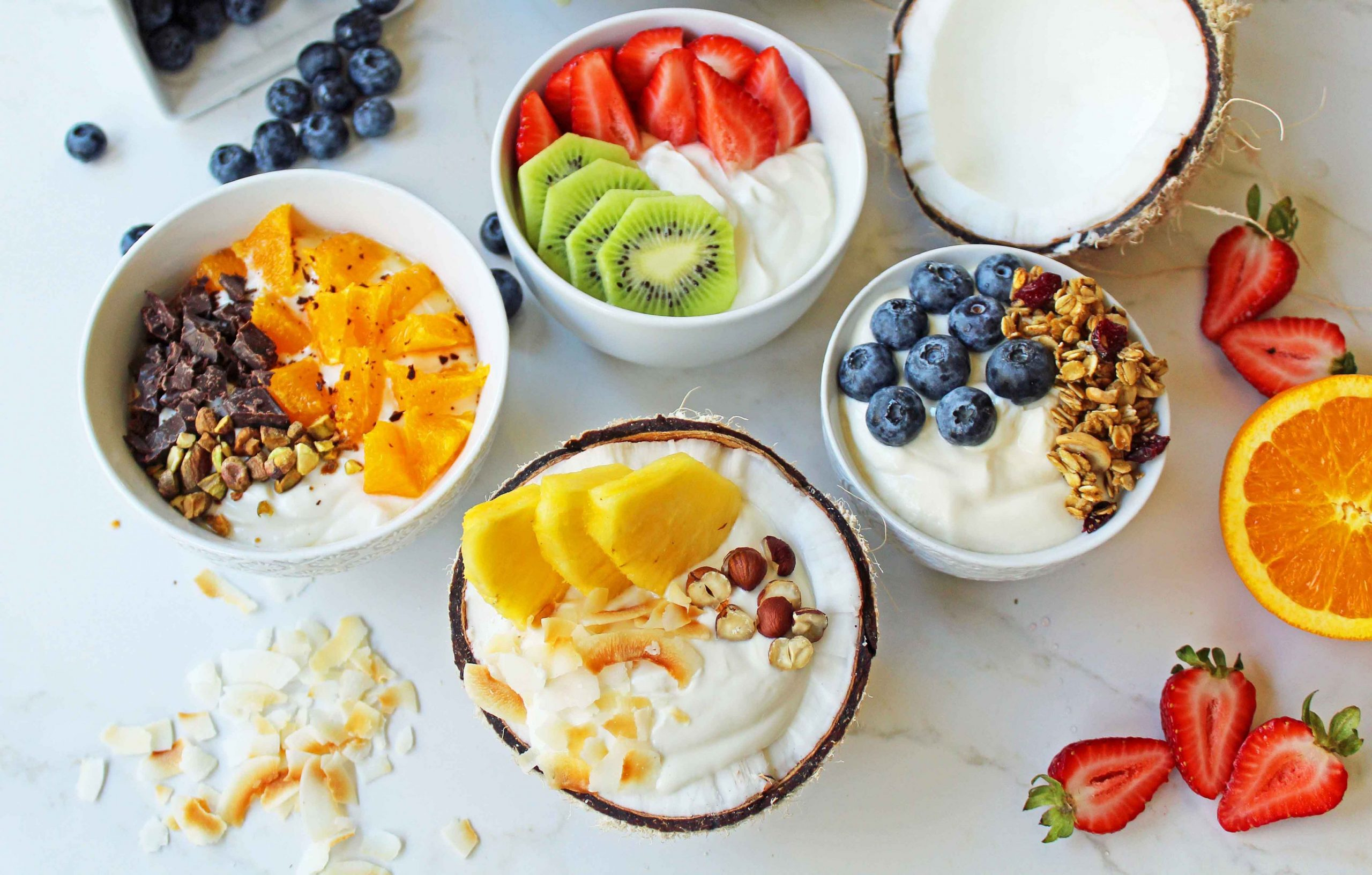 Greek Yogurt Breakfast Bowls with Toppings