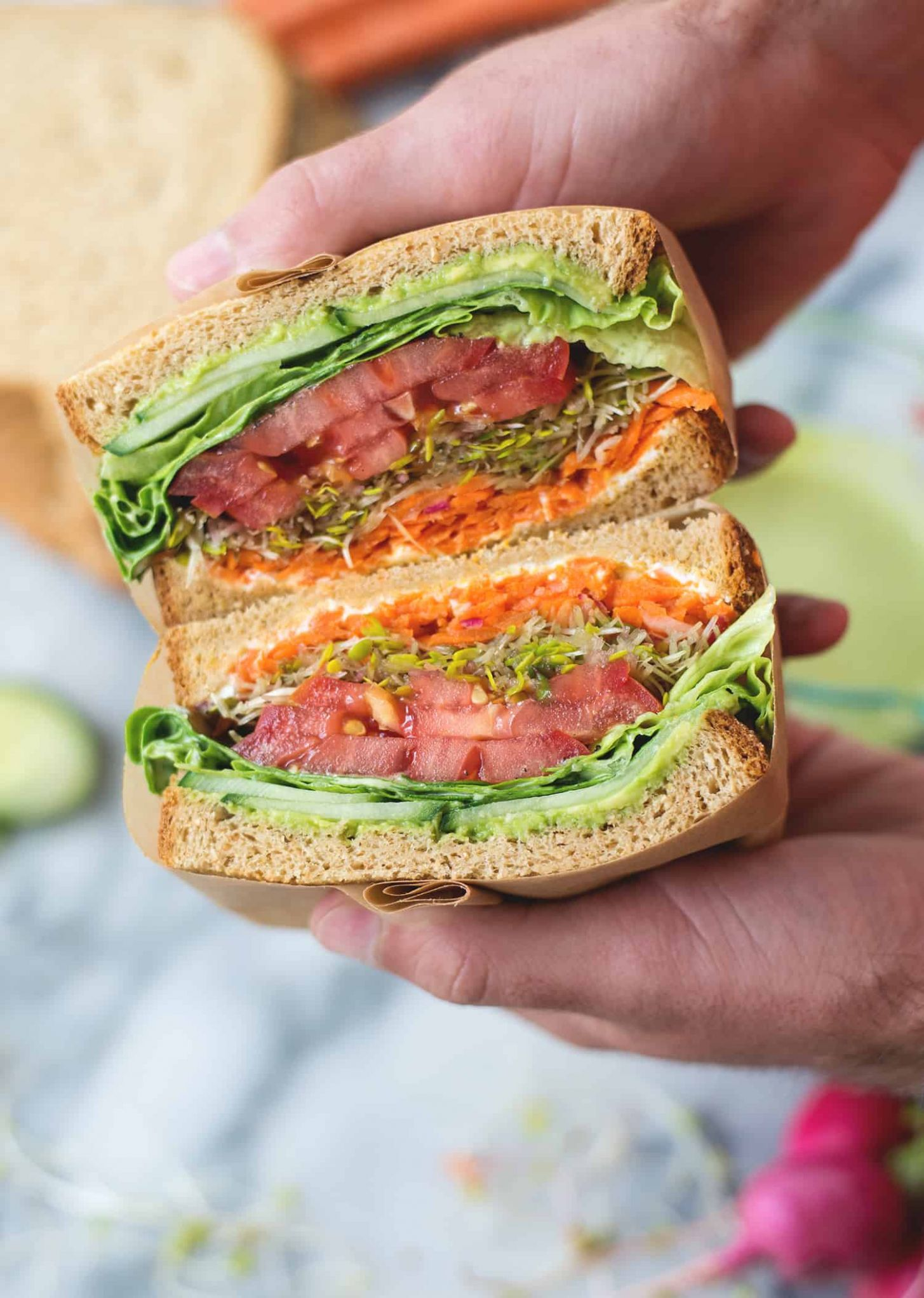 Green Goddess Veggie Sandwich - Sandwich Recipes Vegetarian