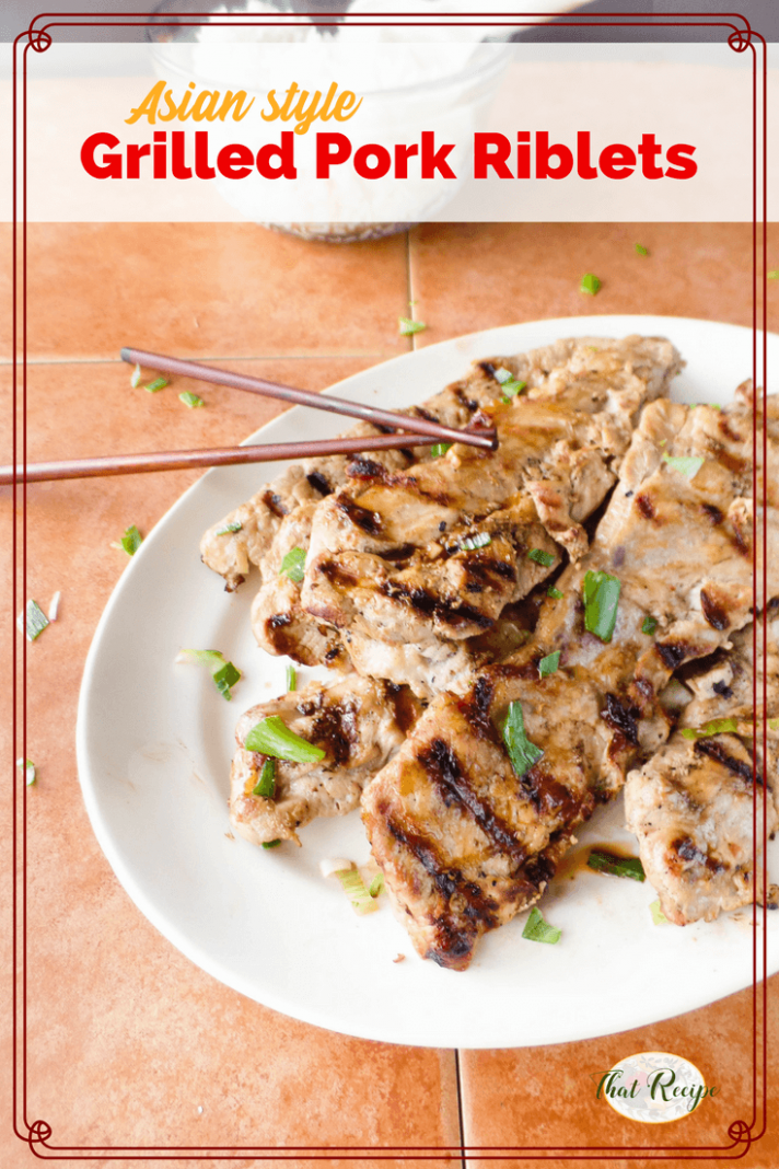 Grilled Asian Style Pork Riblets