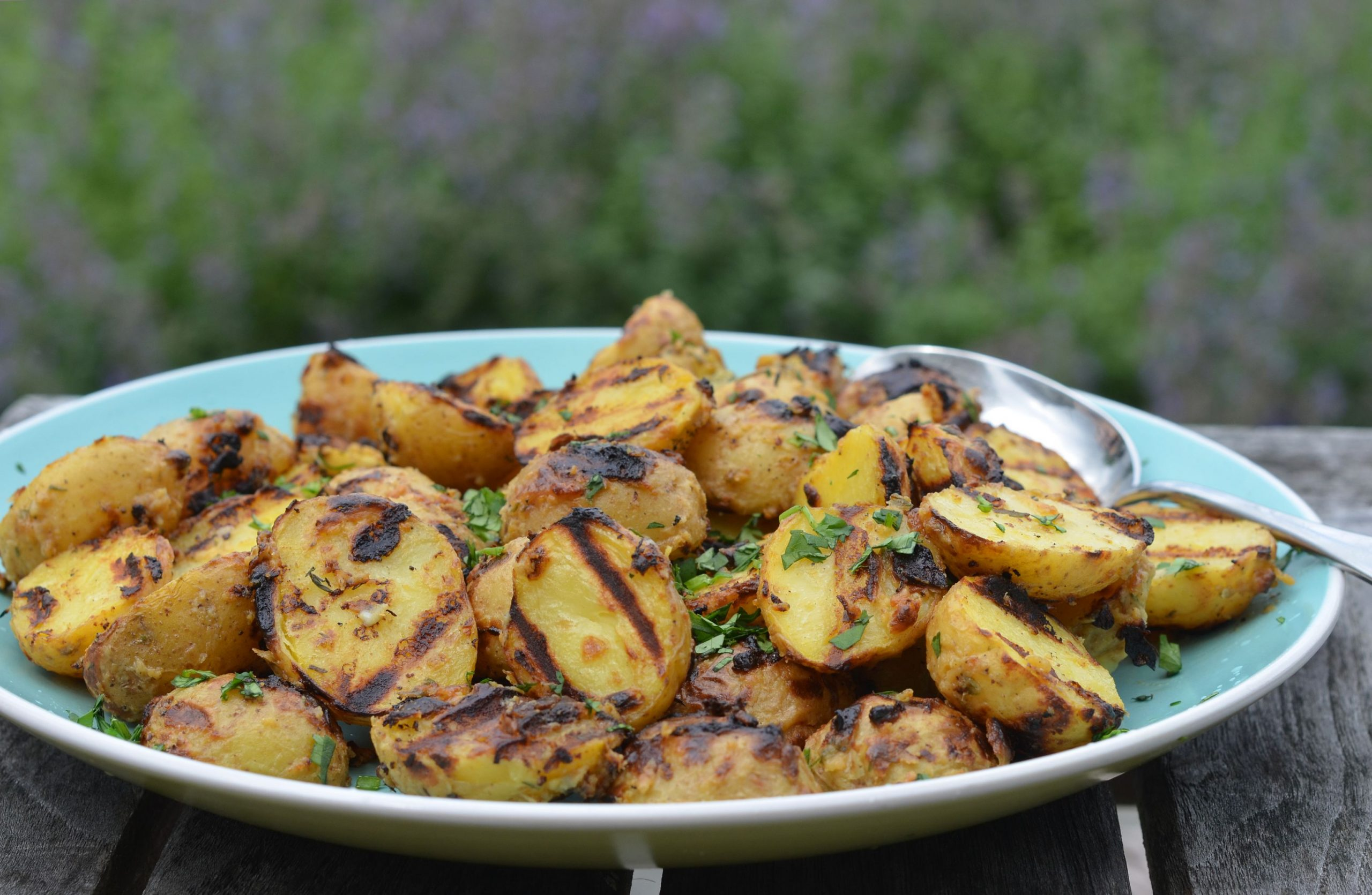 Grilled Baby Potatoes with Dijon Mustard & Thyme - Potato Recipes Grill