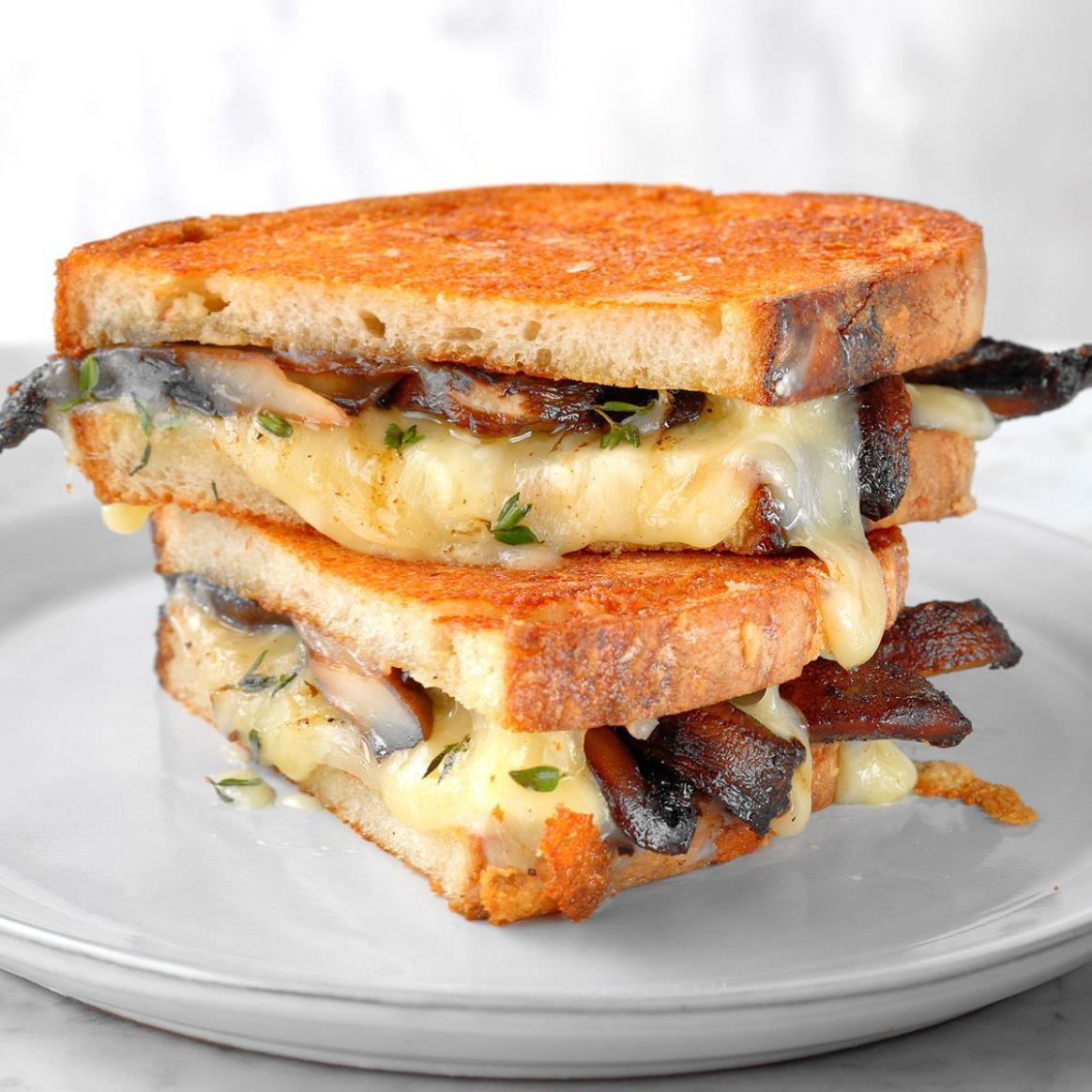 Grilled Cheese and Mushroom Sandwich - Sandwich Recipes Grilled