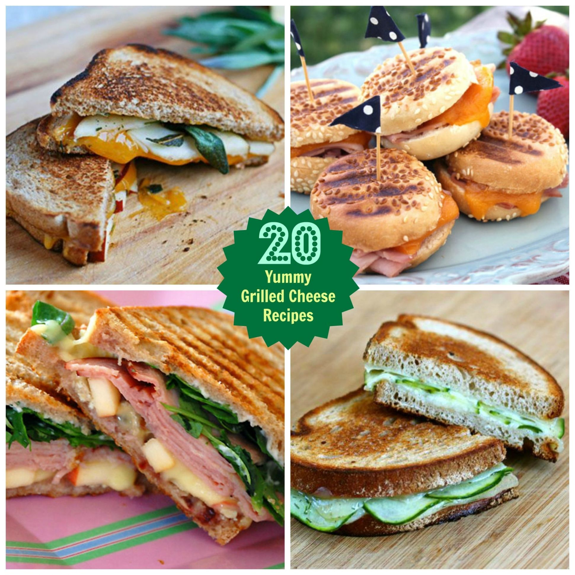 Grilled Cheese Sandwiches | Food, Food recipes, Food drink