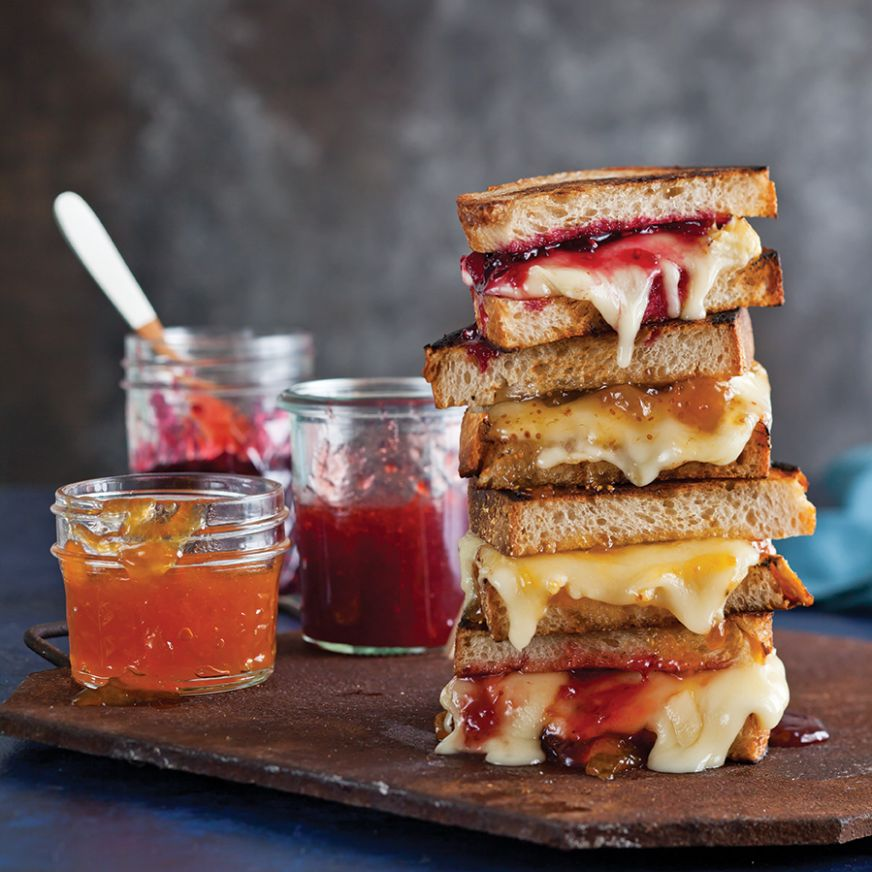 Grilled Cheese with Brie and Preserves