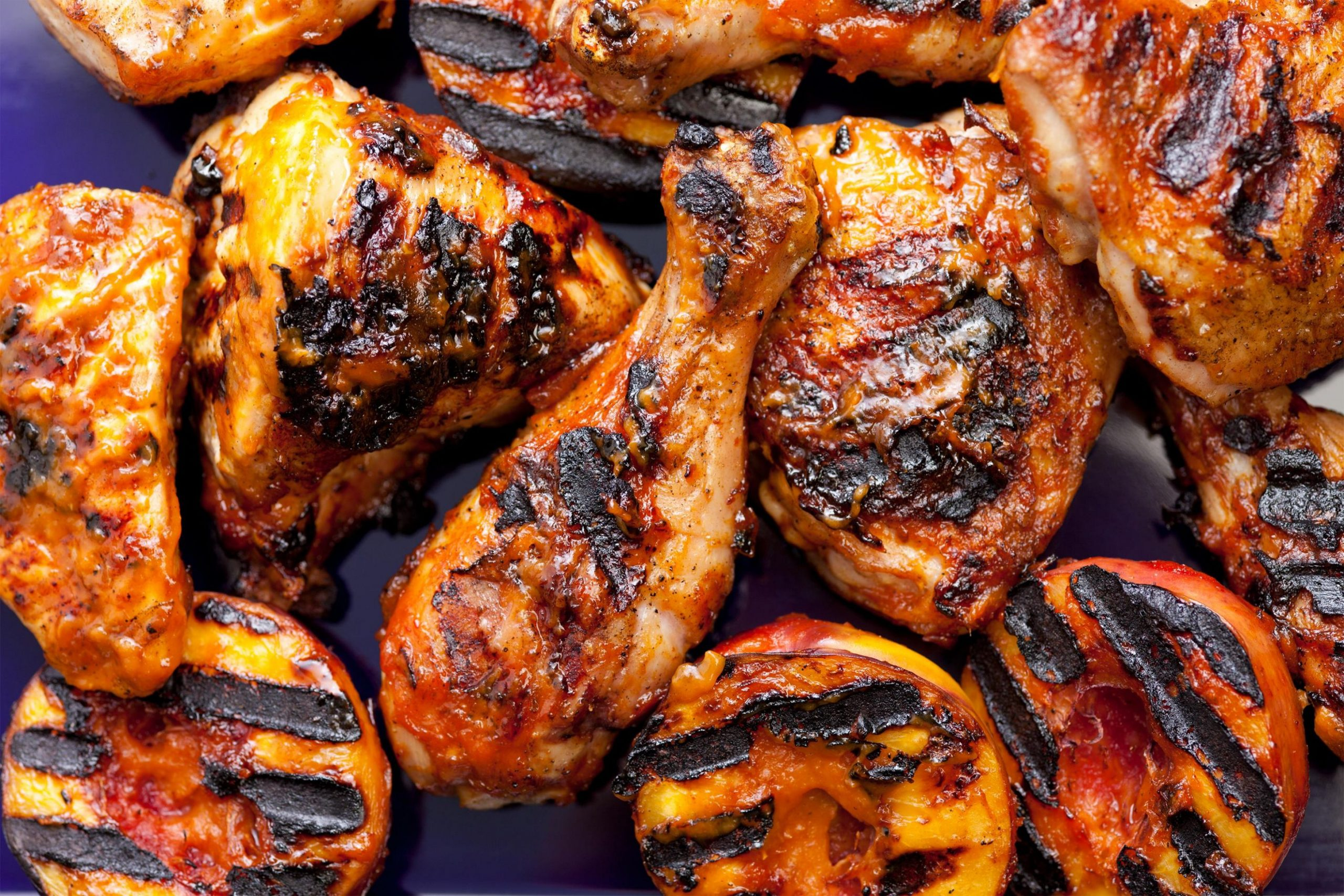 Grilled Chicken with Nectarine BBQ Sauce - Recipes Chicken On The Grill