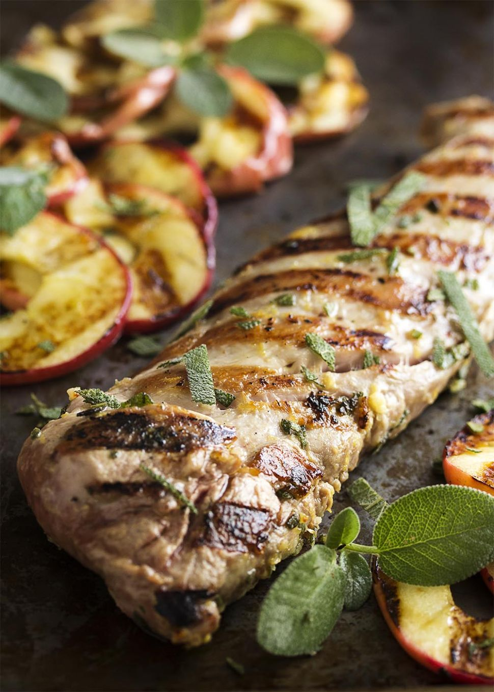 Grilled Pork Tenderloin with Apples and Sage - Dinner Recipes Apple