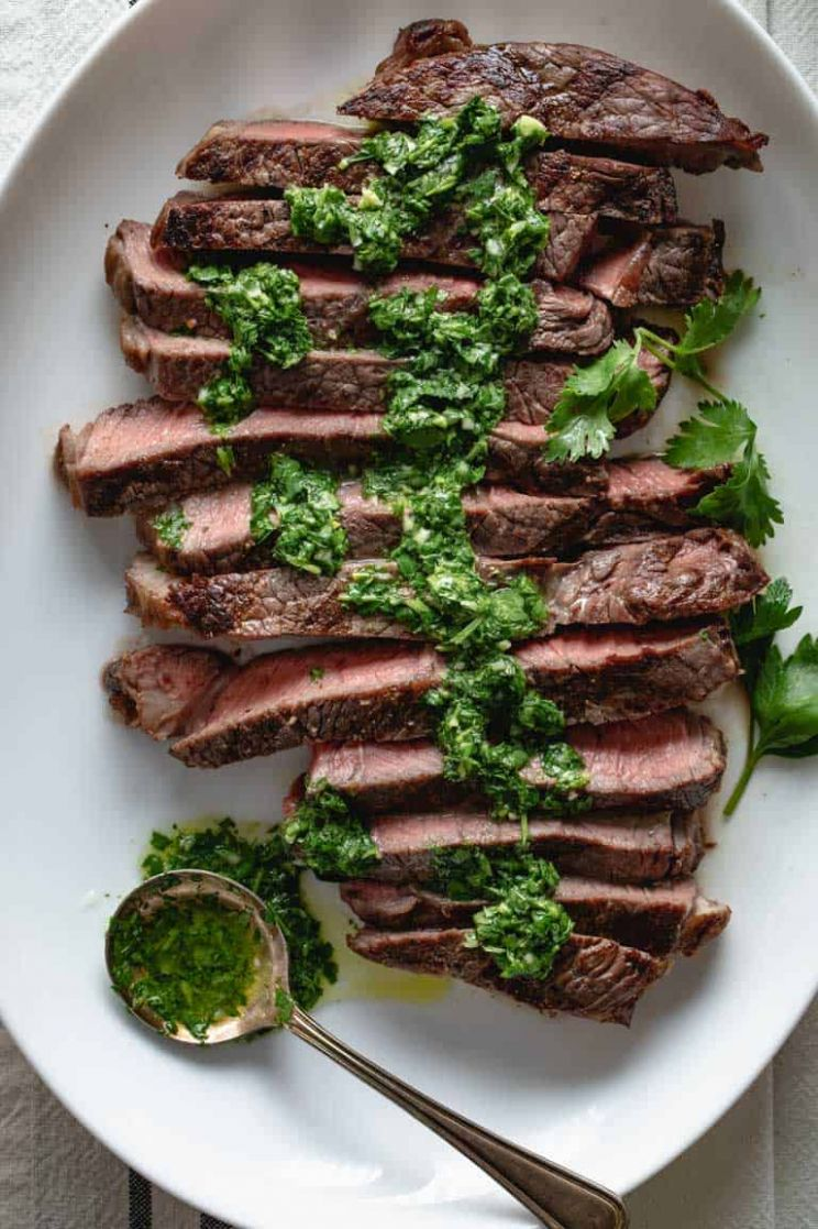 grilled sirloin steak with chimichurri - Healthy Seasonal Recipes - Recipes Beef Top Sirloin Steak