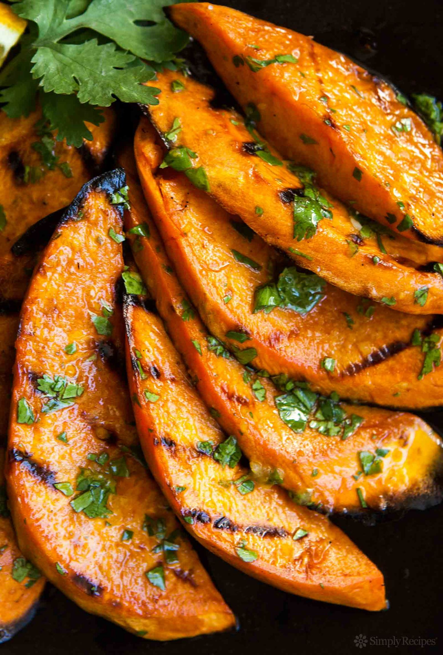 Grilled Sweet Potatoes - Simple Recipes Grilled Sweet Potatoes