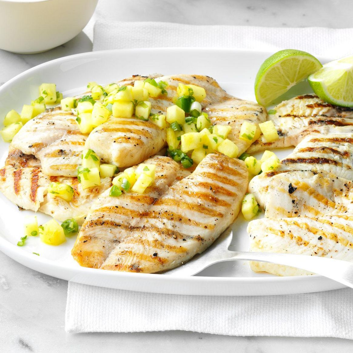 Grilled Tilapia with Pineapple Salsa - Recipe Fish With Pineapple