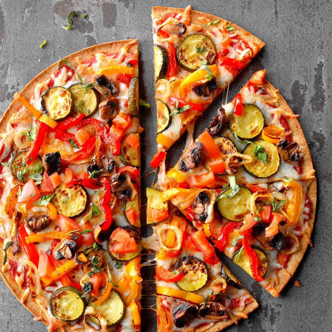 Grilled Veggie Pizza - Pizza Recipes Vegetarian