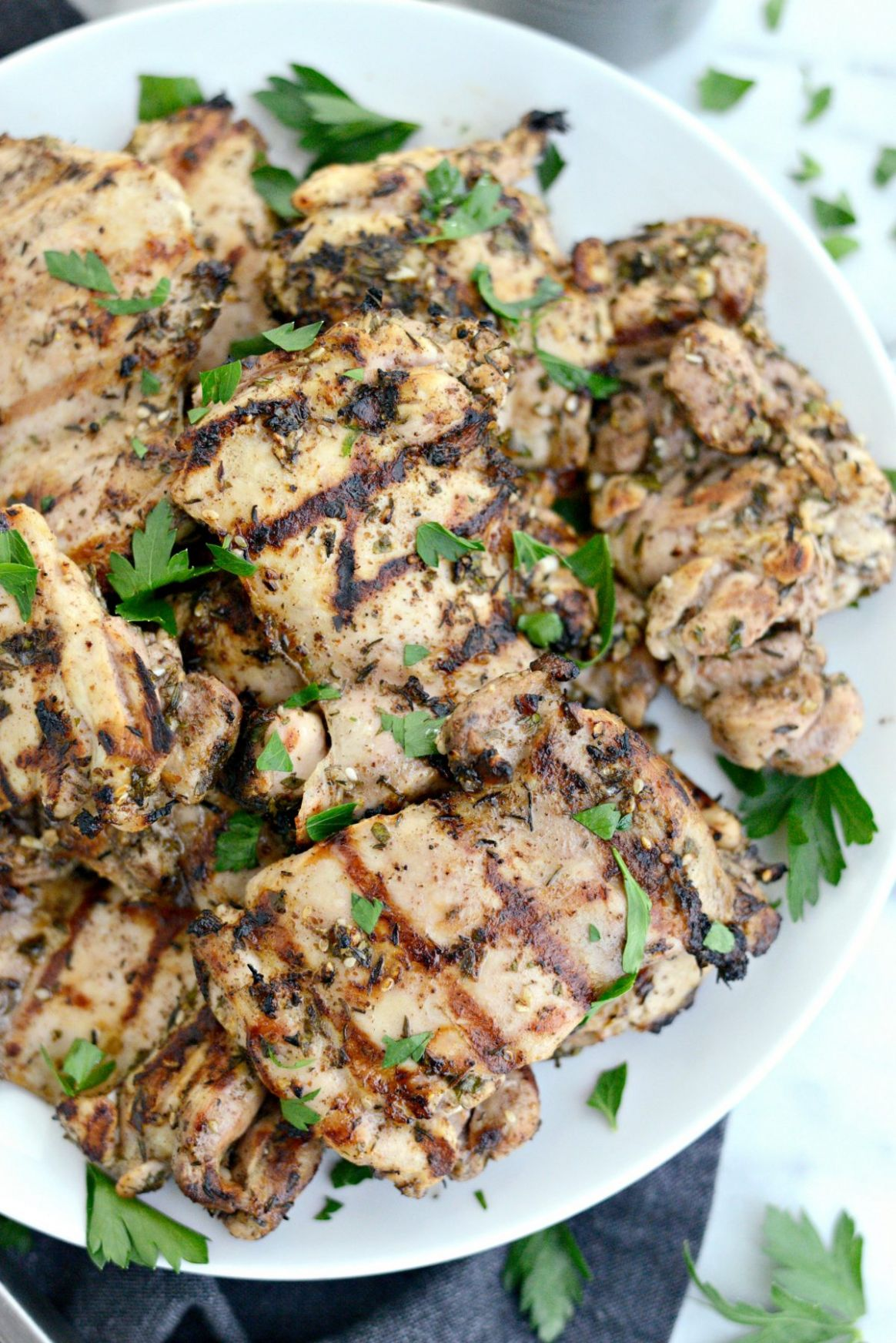 Grilled Za'atar Chicken Thighs - Simply Scratch