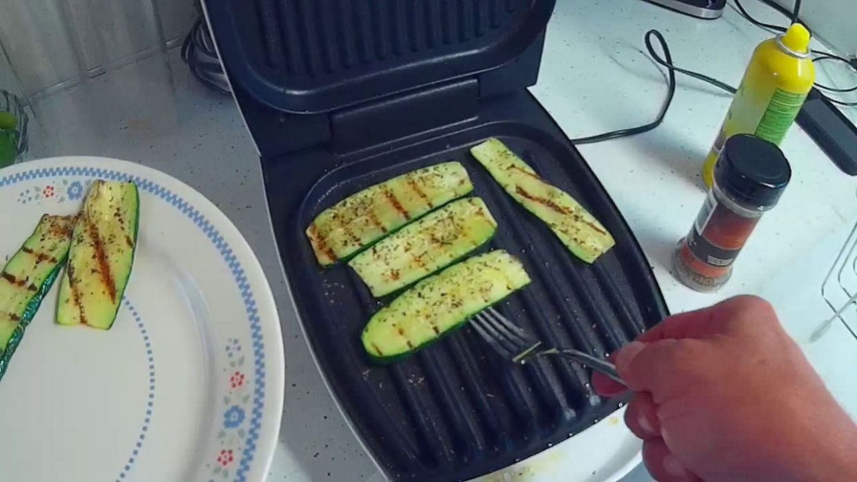 Grilled Zucchini on a George Forman Grill - Vegetable Recipes George Foreman Grill