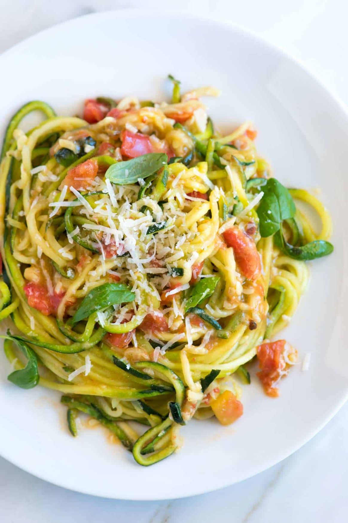 Guilt-Free Garlic Parmesan Zucchini Noodles Pasta - Cooking Recipes Zucchini Pasta
