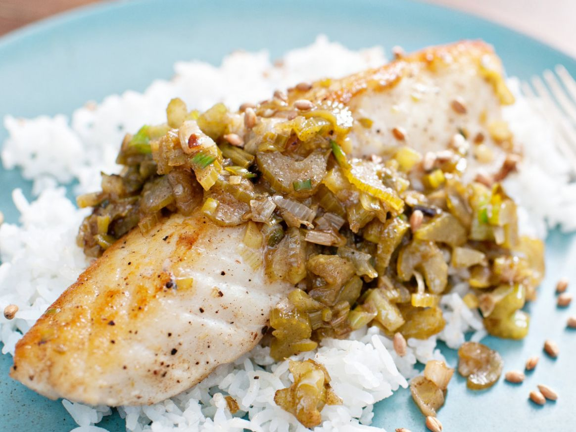 Halibut with Brown Butter, Lemon and Aged Fish Sauce