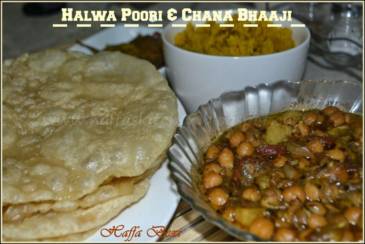 Halwa Poori & Chanay Bhaaji | Indian breakfast, Food recipes ...