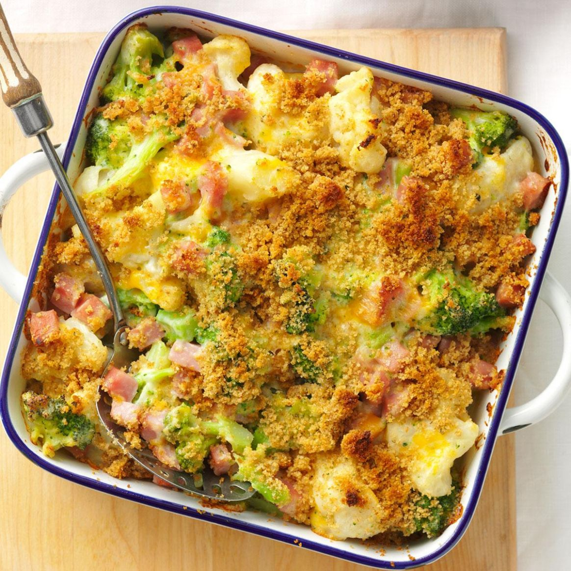 Ham & Veggie Casserole - Recipes Vegetarian Casseroles