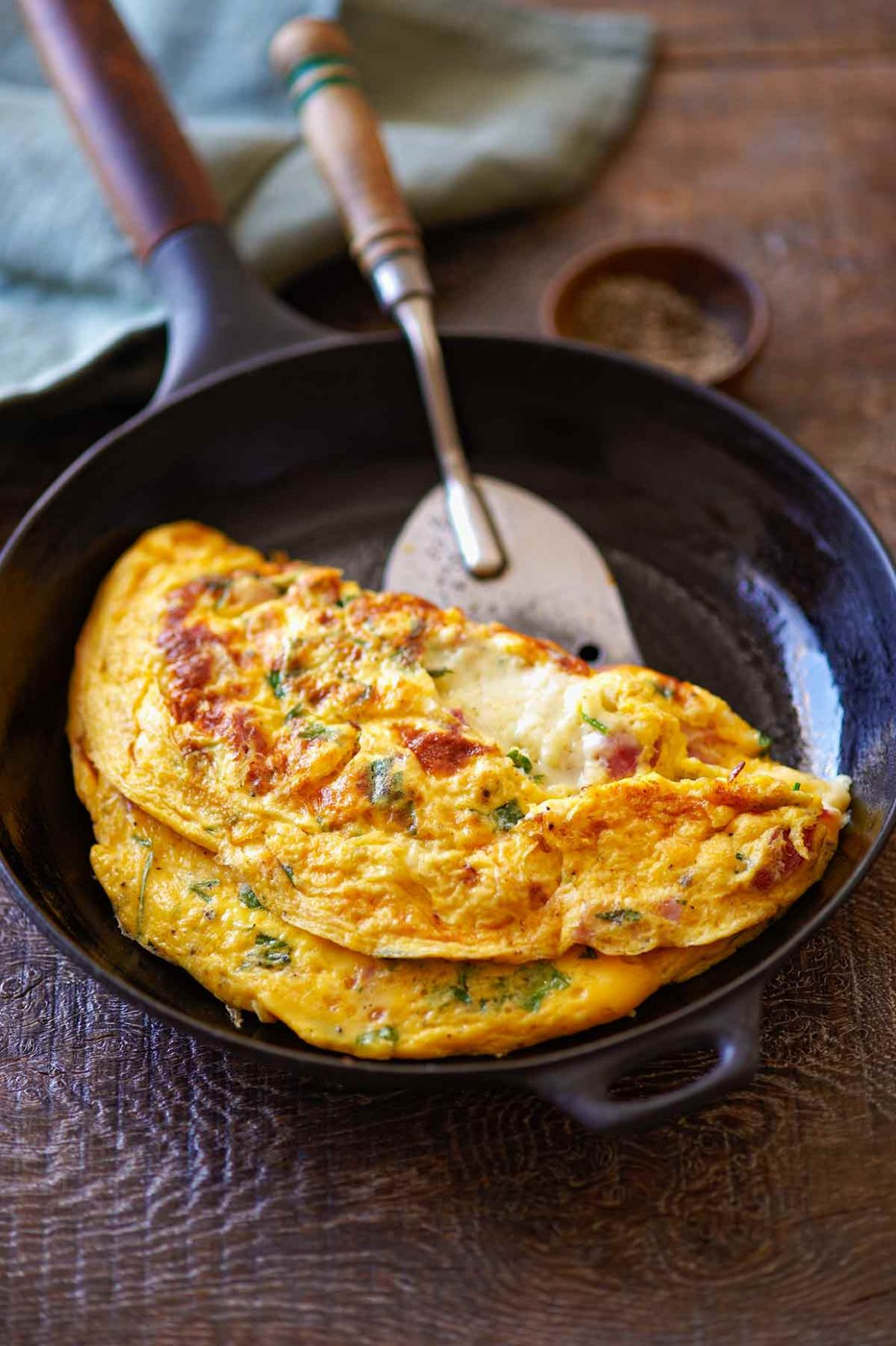 Ham and Cheese Omelet - Recipe Egg Omelette Cheese