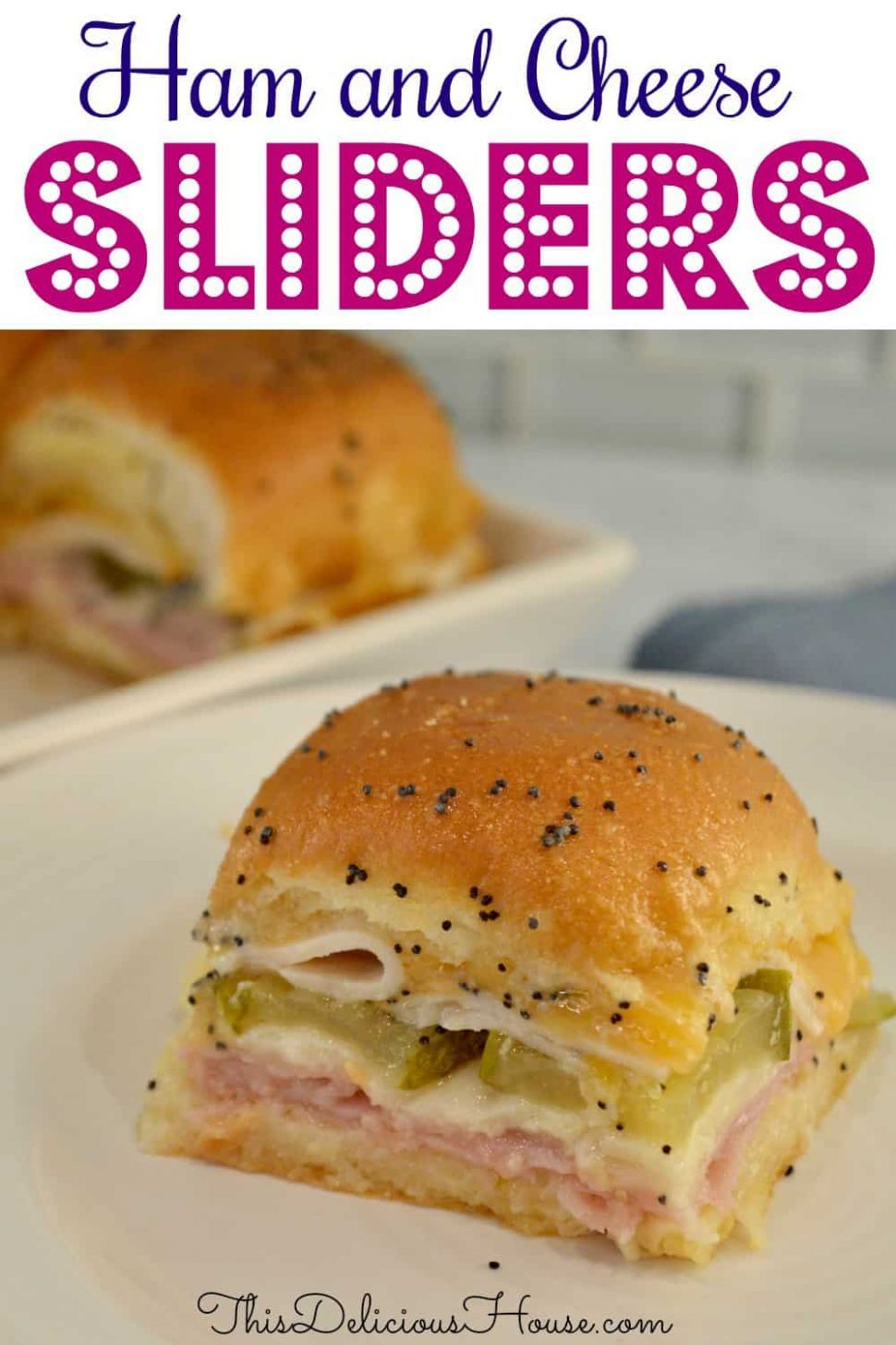 Ham and Cheese Sliders | King's Hawaiian Rolls - This Delicious House