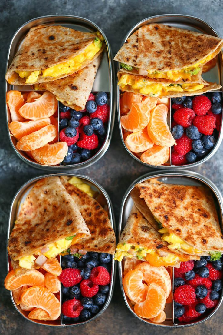 Ham, Egg and Cheese Breakfast Quesadillas - Breakfast Recipes Meal Prep