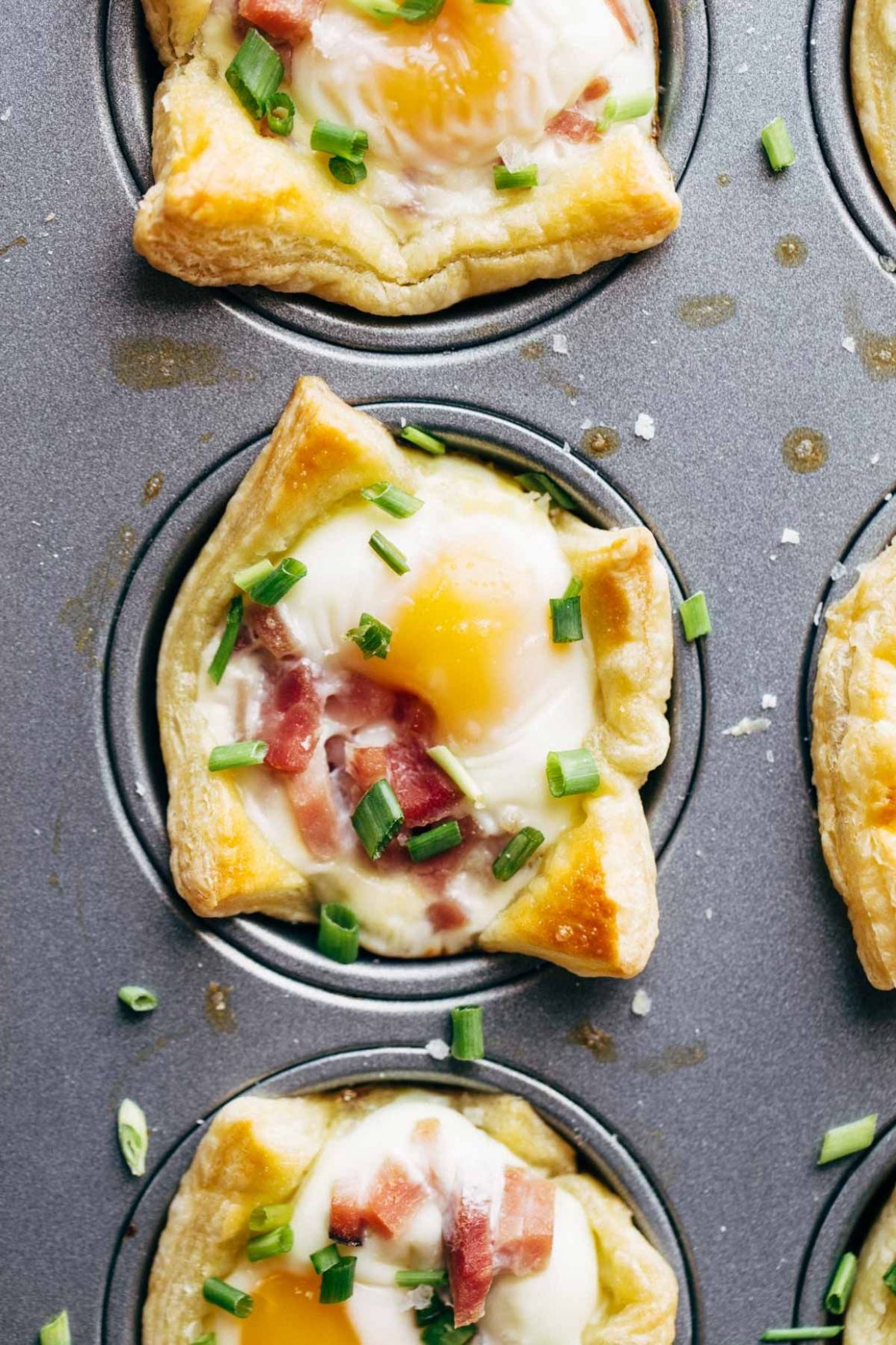 Ham, Egg, and Cheese Brunch Cups - Breakfast Recipes Ham Eggs