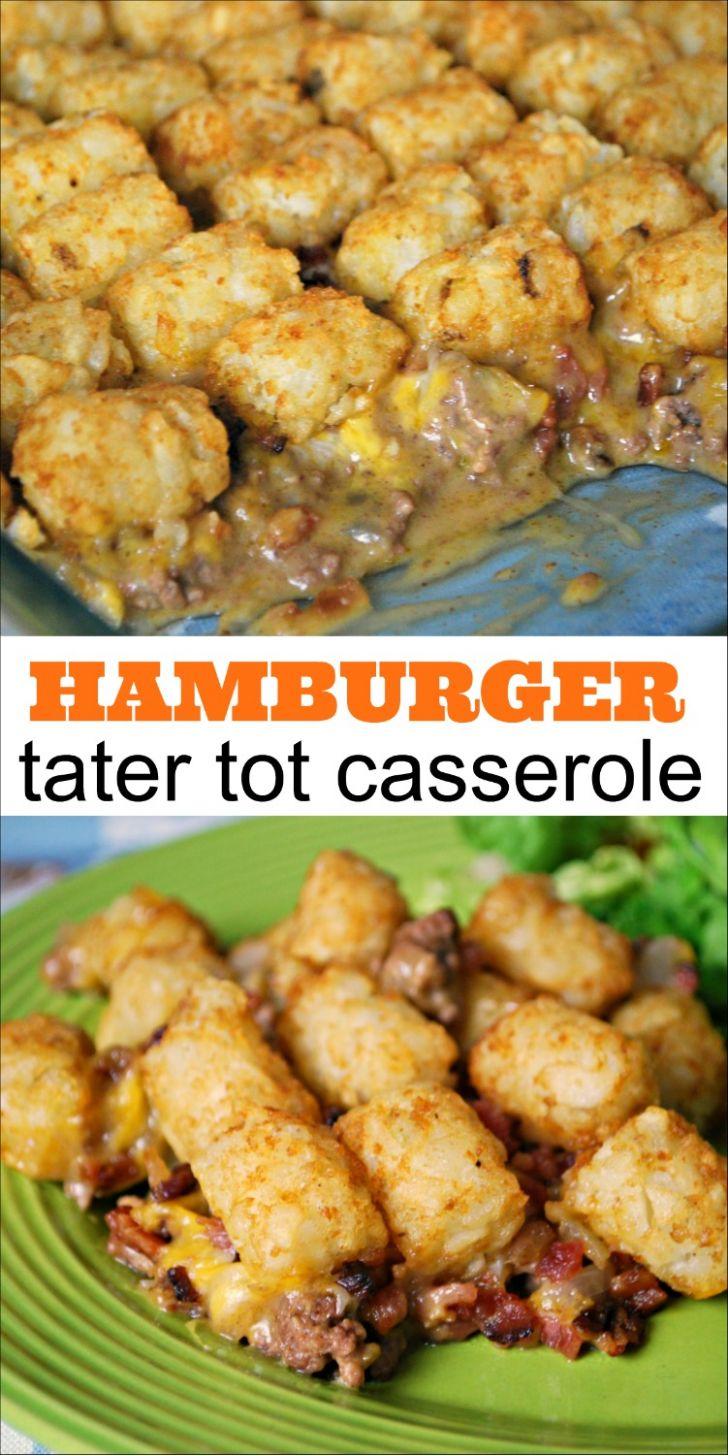 Hamburger Tater Tot Casserole - Mess for Less - Summer Recipes Using Ground Beef