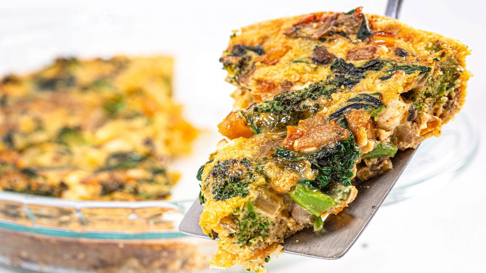 Healthier Crustless Quiche | Carrie Underwood