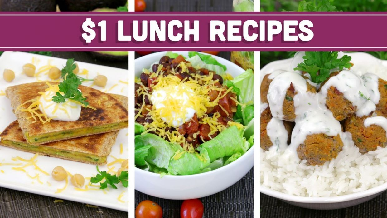 Healthy $11 Lunch Recipes - Easy Budget Meals! - Mind Over Munch - Easy Recipes Youtube