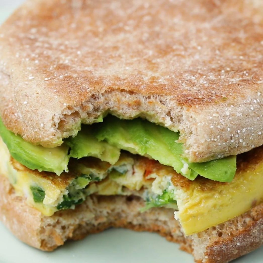 Healthy Breakfast Sandwich Recipe by Tasty - Sandwich Recipes Tasty